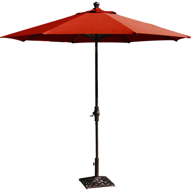 Market Umbrella Aluminum Frame 9' Autotilt Sunbrella Standard Solid (more Colors) Inside Newest Solid Market Umbrellas (View 11 of 20)