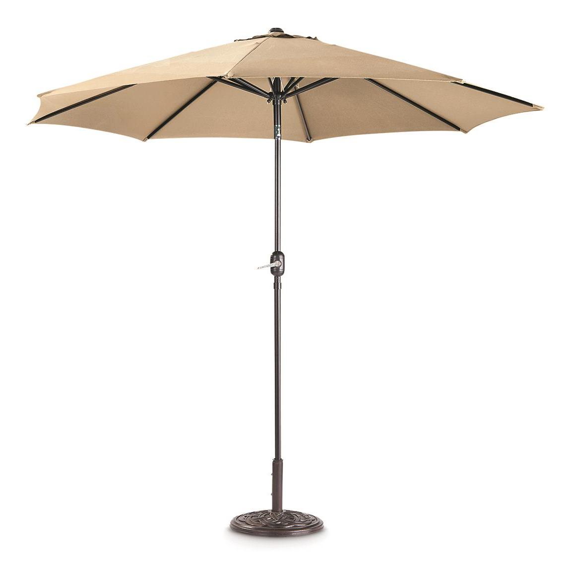 Market Umbrellas Inside Well Known Castlecreek 9' Market Patio Umbrella (View 16 of 20)