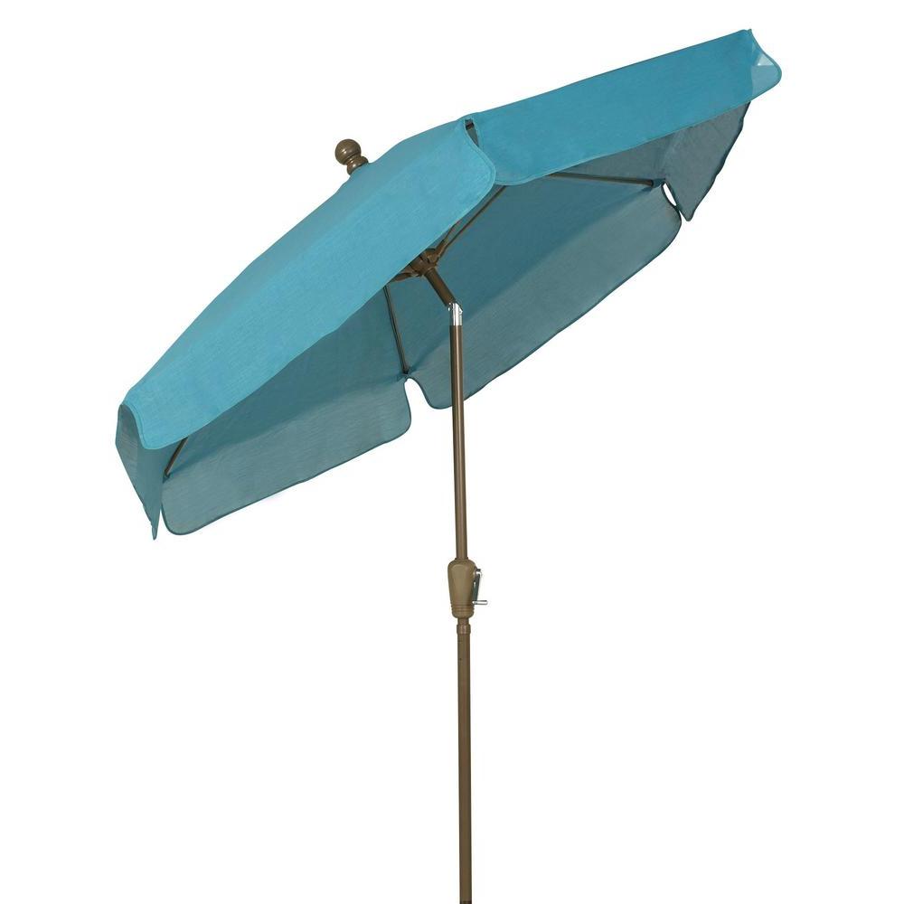 Market Umbrellas – Patio Umbrellas – The Home Depot With Regard To Widely Used Iyanna Cantilever Umbrellas (Gallery 12 of 20)