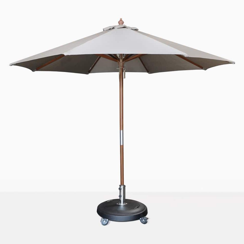 Market Umbrellas Throughout Best And Newest Dixon Market Olefin Round Umbrella (grey) (View 17 of 20)