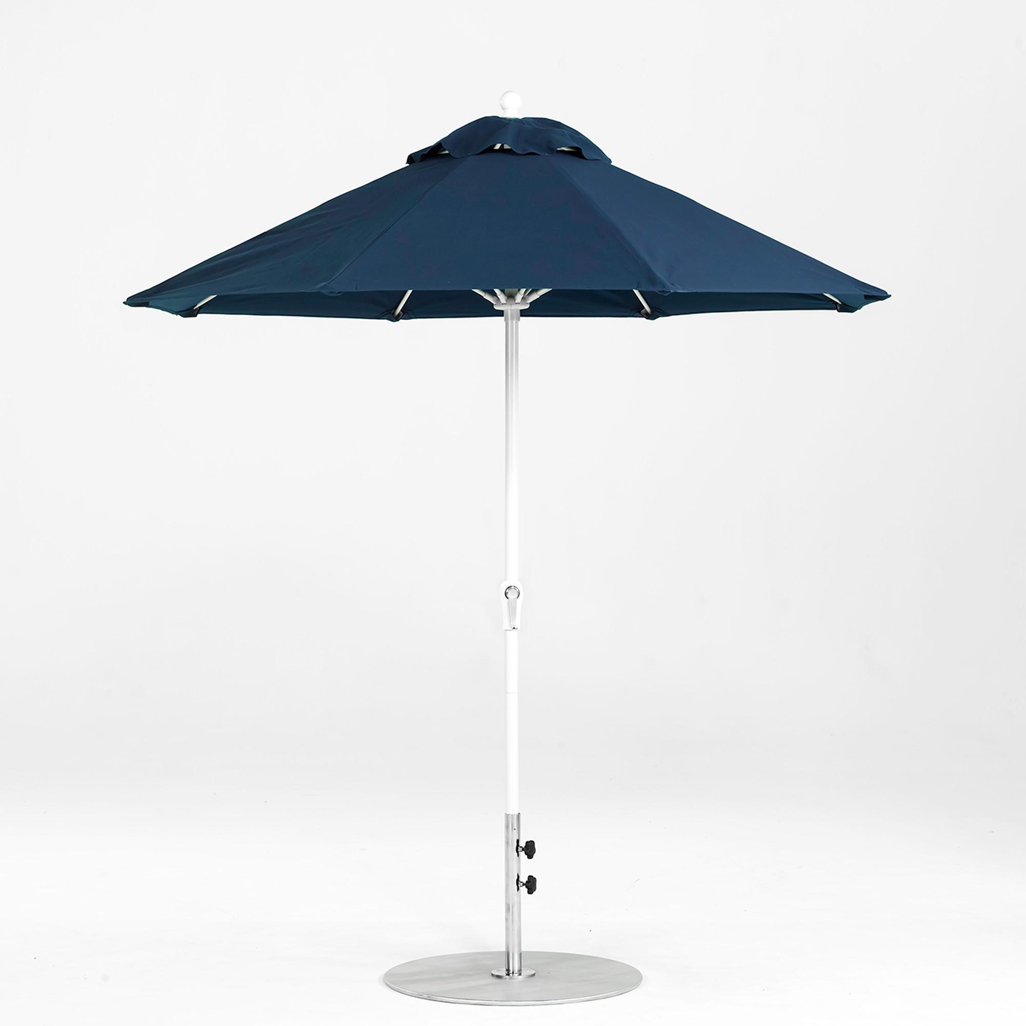 Market Umbrellas With Current 7.5 Ft. Crank Lift Fiberglass Market Umbrella With White Pole (Gallery 6 of 20)
