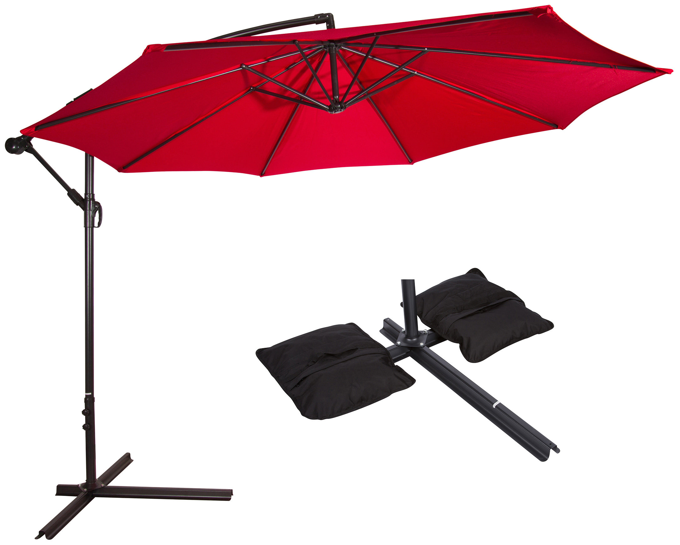Meranda 2' Cantilever Umbrella Inside Trendy Irven Cantilever Umbrellas (View 13 of 20)