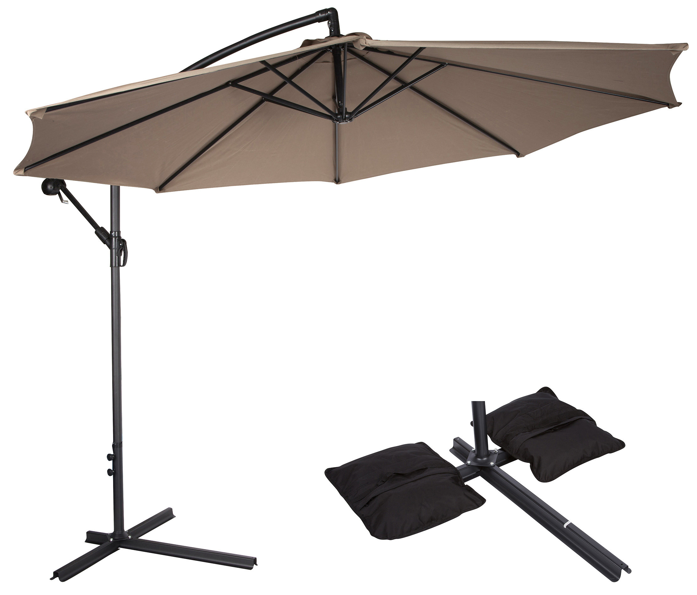 Meranda 2' Cantilever Umbrella Within Most Recently Released Justis Cantilever Umbrellas (View 4 of 20)