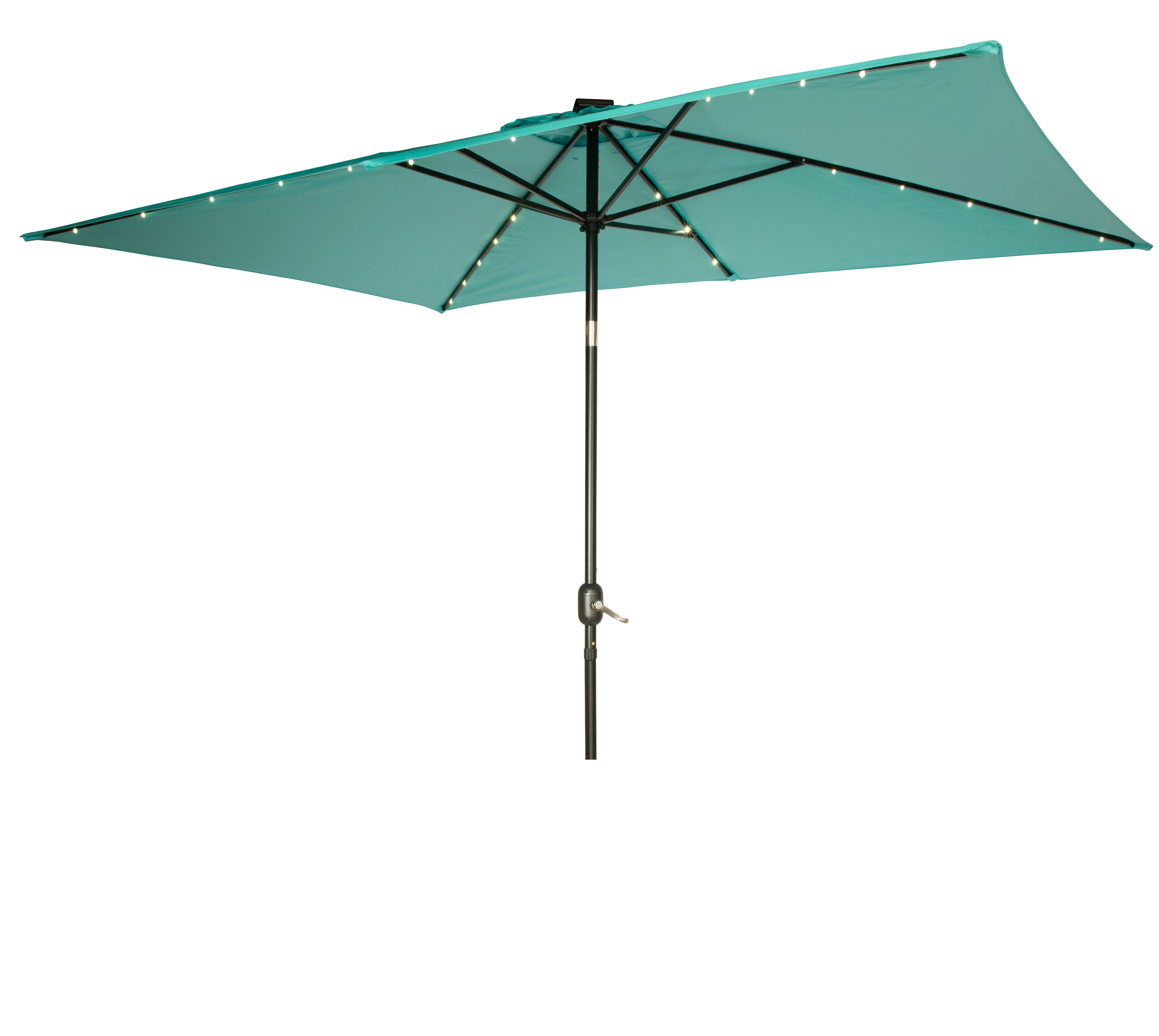 Mertie 10' X 6.5' Rectangular Market Umbrella With Regard To 2019 Griselda Solar Lighted  Rectangular Market Umbrellas (Gallery 11 of 20)