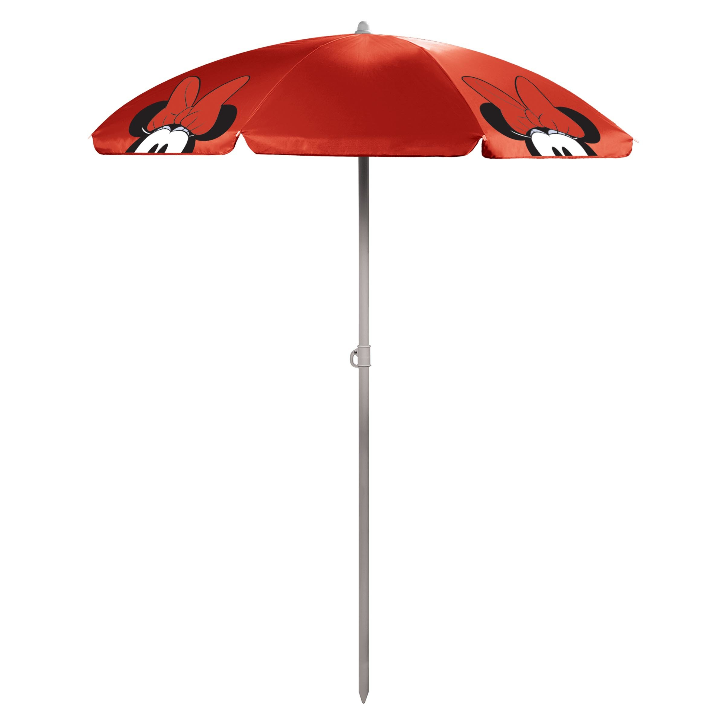 Minnie Mouse 5.5' Portable Beach Umbrella In Recent Alyson Joeshade Beach Umbrellas (Gallery 6 of 20)