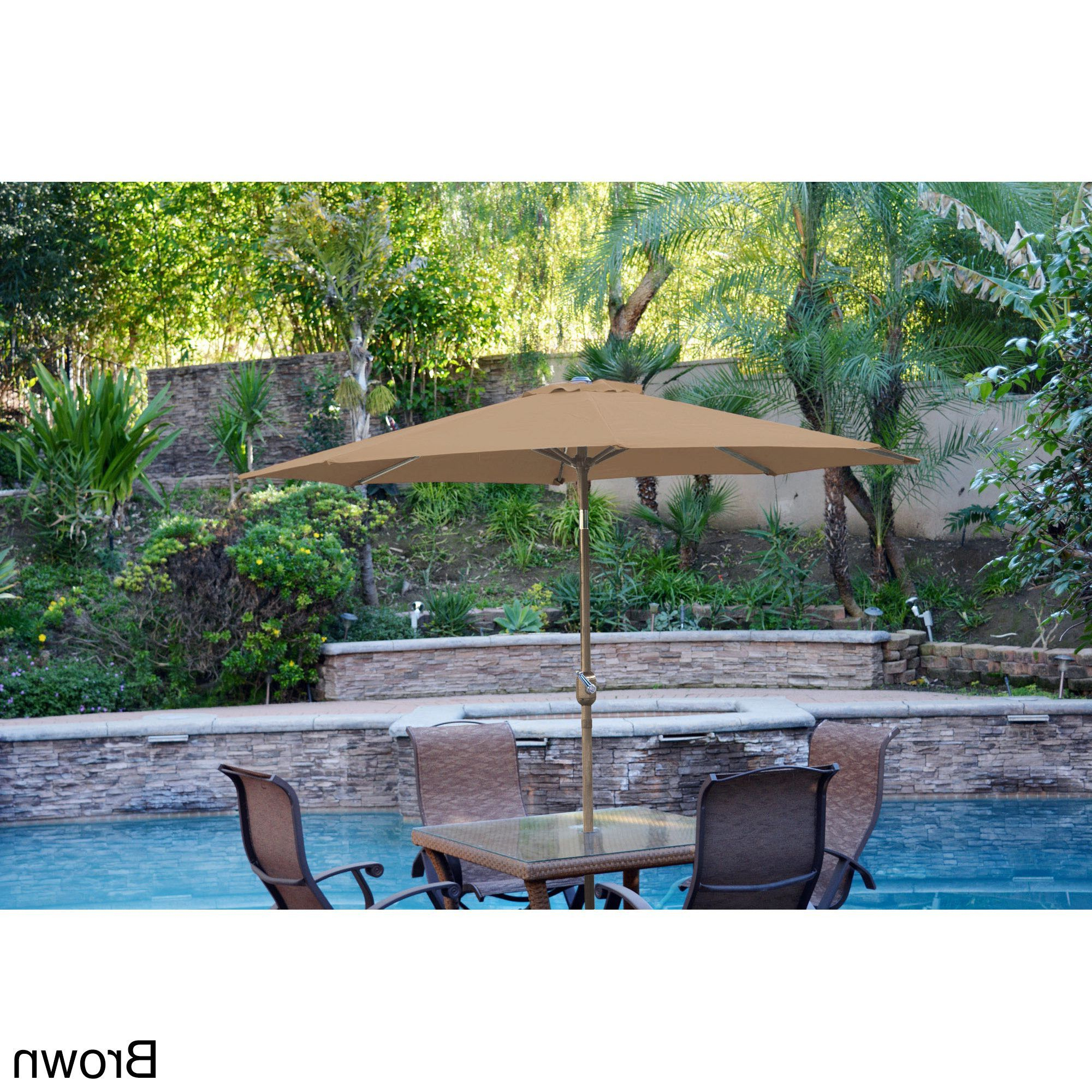 Most Current Aluminum Patio Market Umbrella Tilt With Bronze Pole (Red), Jeco With Bricker Market Umbrellas (Gallery 10 of 20)
