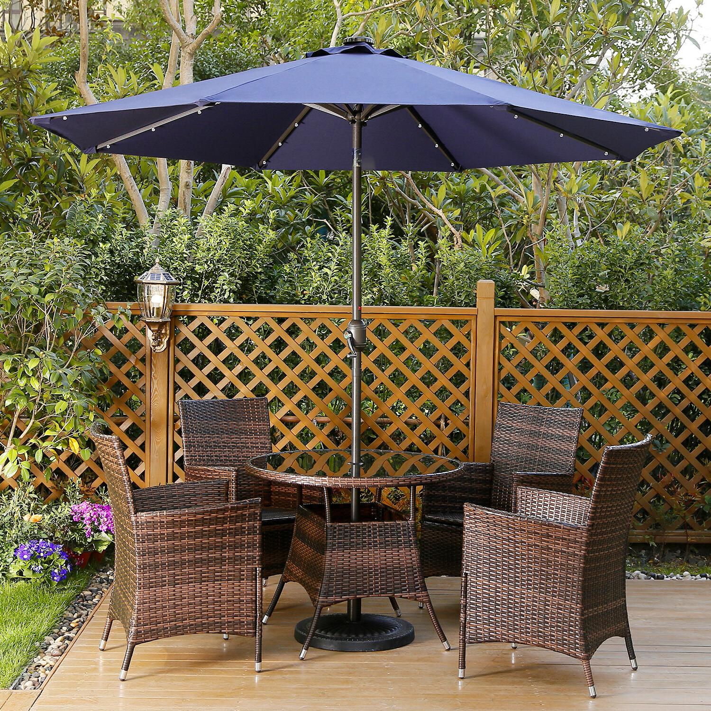 Most Current Harwich Market Umbrella Regarding Herlinda Solar Lighted Market Umbrellas (Gallery 12 of 20)