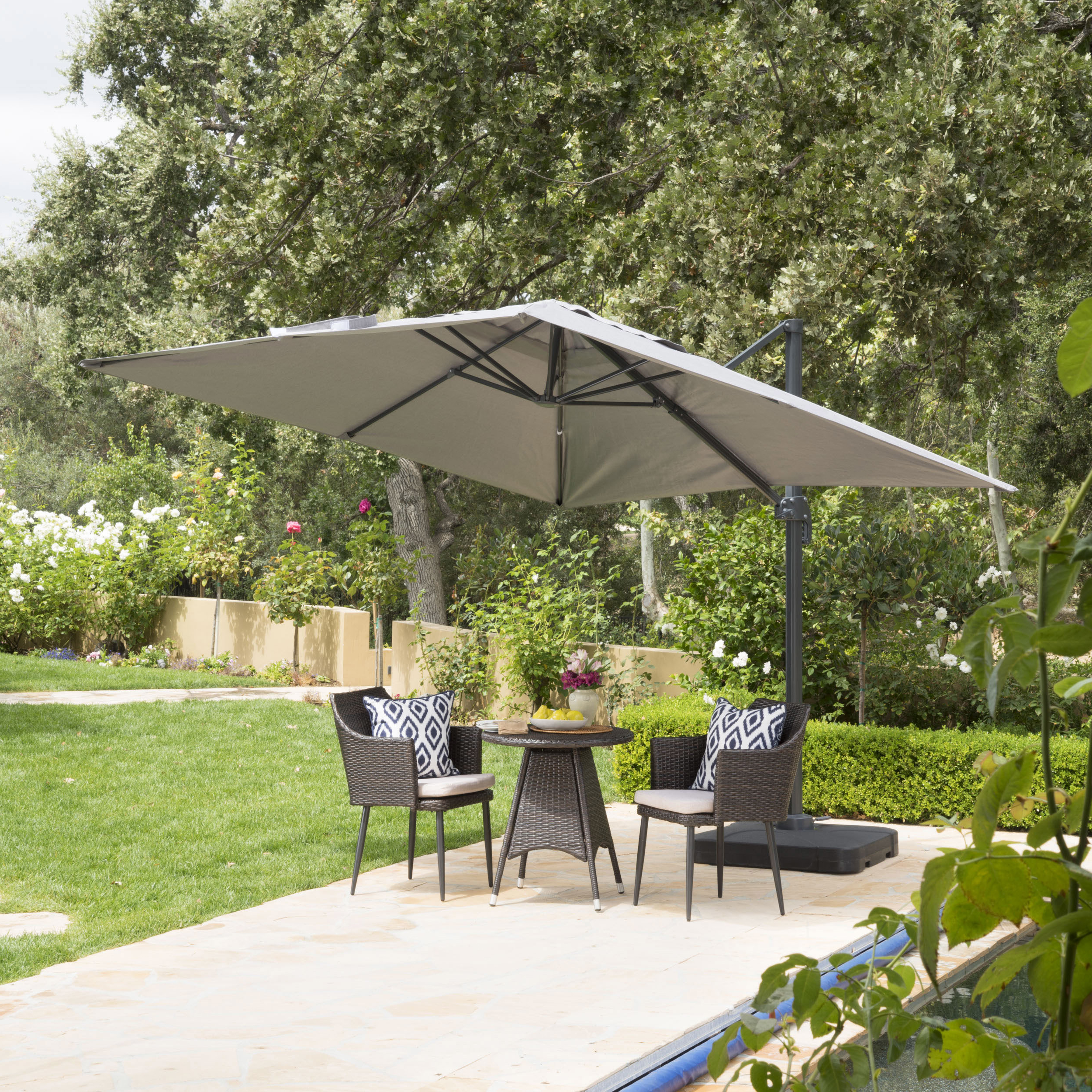 Most Current Maidste Square Cantilever Umbrellas For Wardingham 9.8' Square Cantilever Umbrella (Gallery 3 of 20)