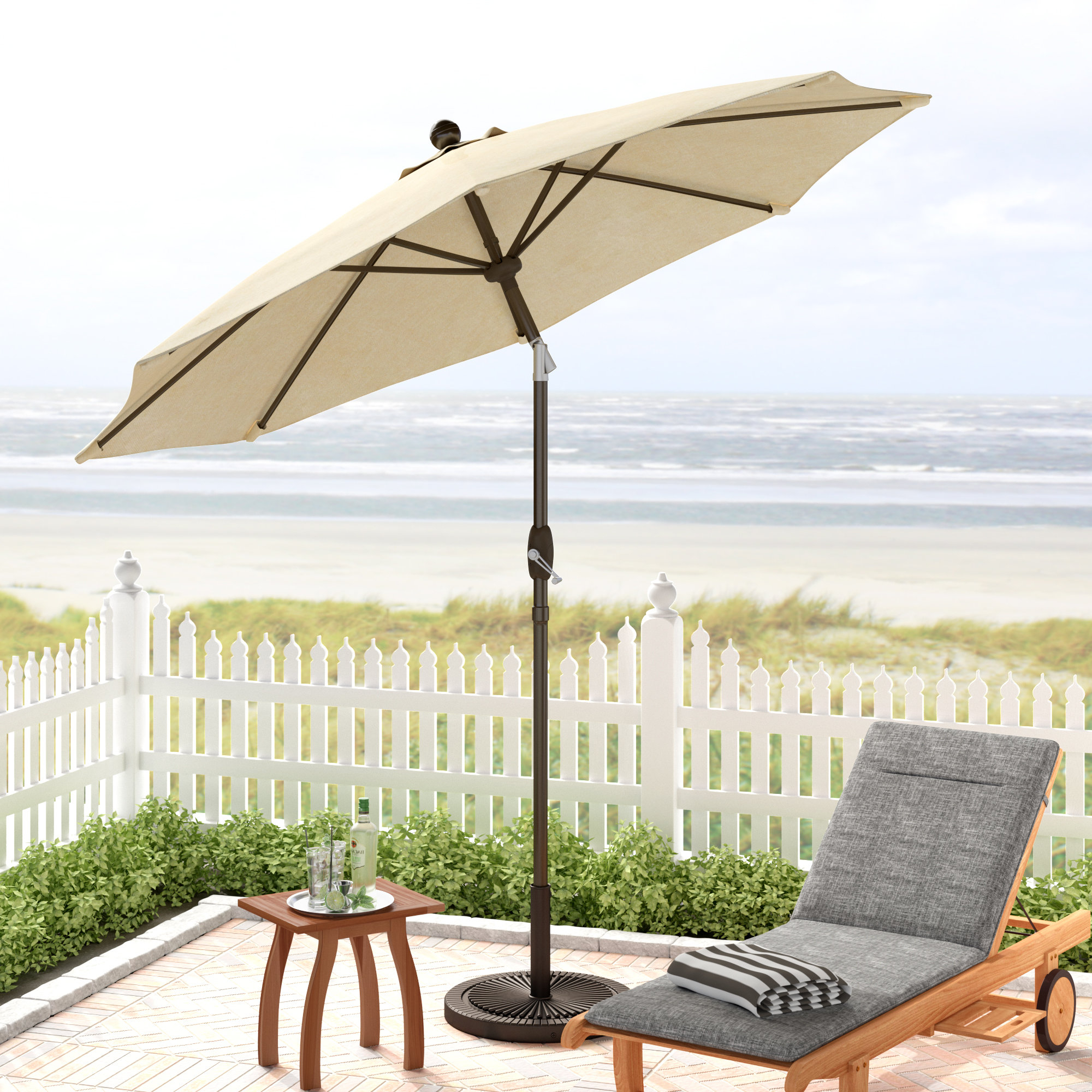Most Current Mucci Madilyn 9' Market Sunbrella Umbrella With Regard To Mullaney Market Sunbrella Umbrellas (Gallery 18 of 20)