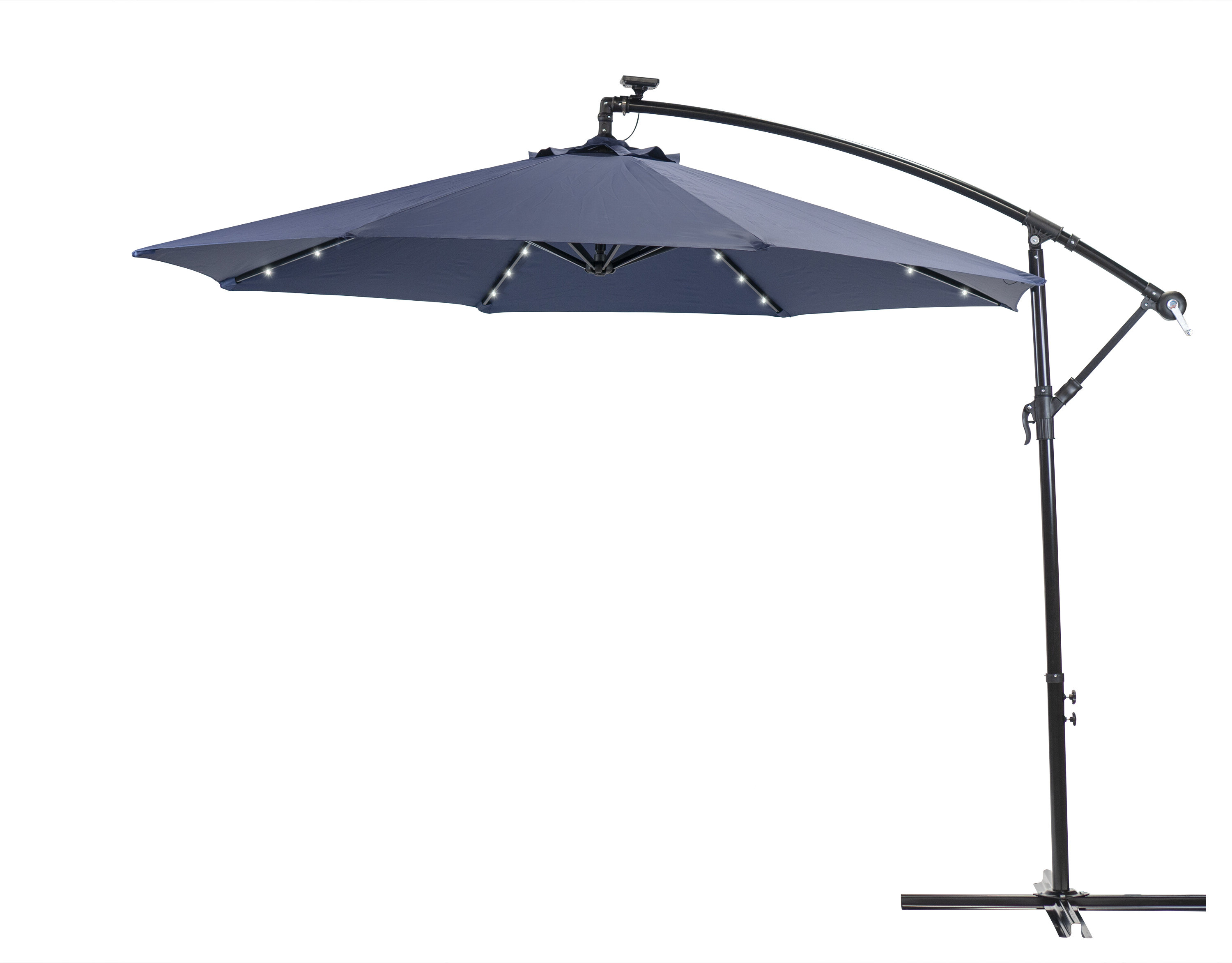 Most Current Sun Ray Solar 10' Cantilever Umbrella Intended For Tottenham Patio Hanging Offset Cantilever Umbrellas (Gallery 4 of 20)
