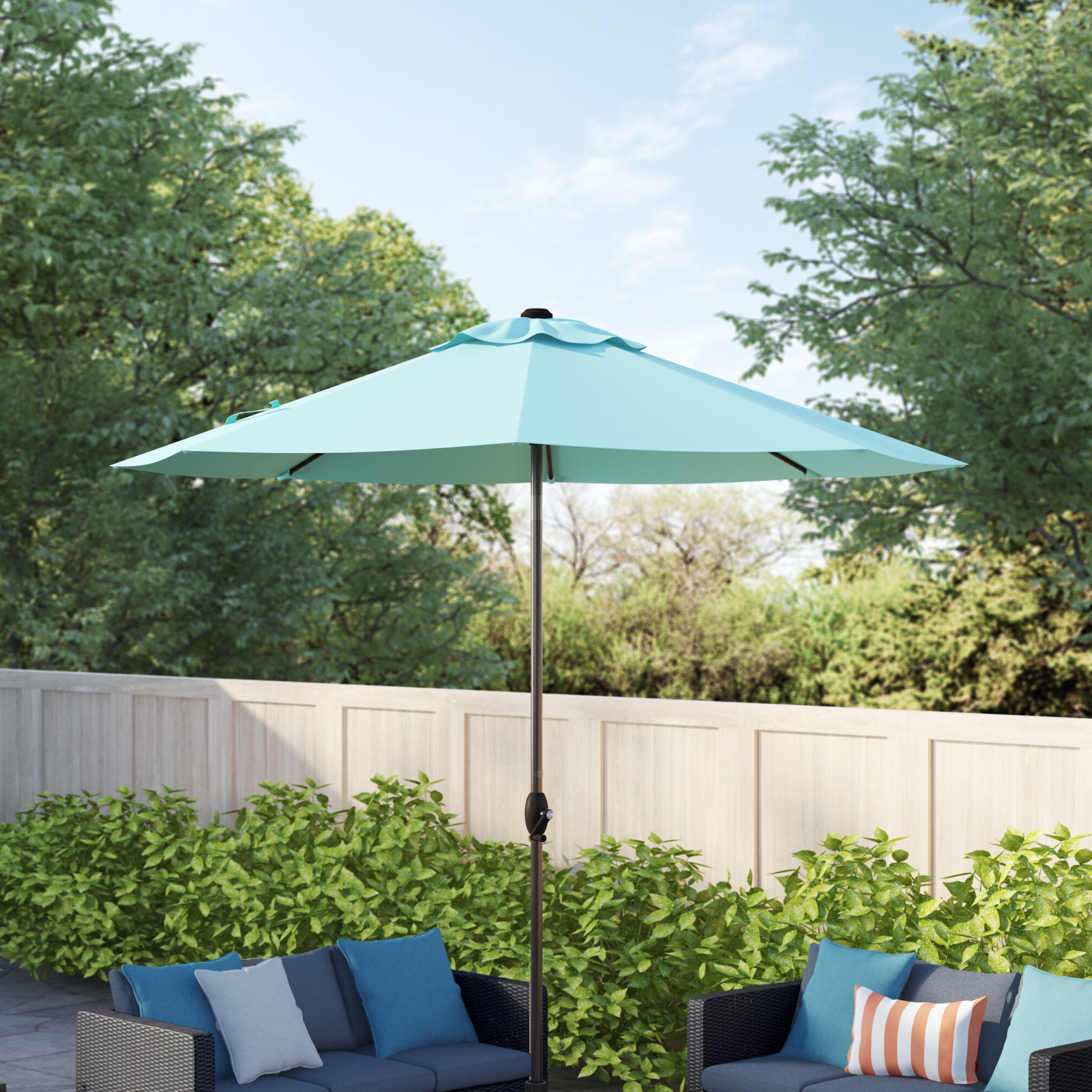 Most Current Winchester Zipcode Design 9' Market Umbrella In Winchester Zipcode Design Market Umbrellas (View 12 of 20)