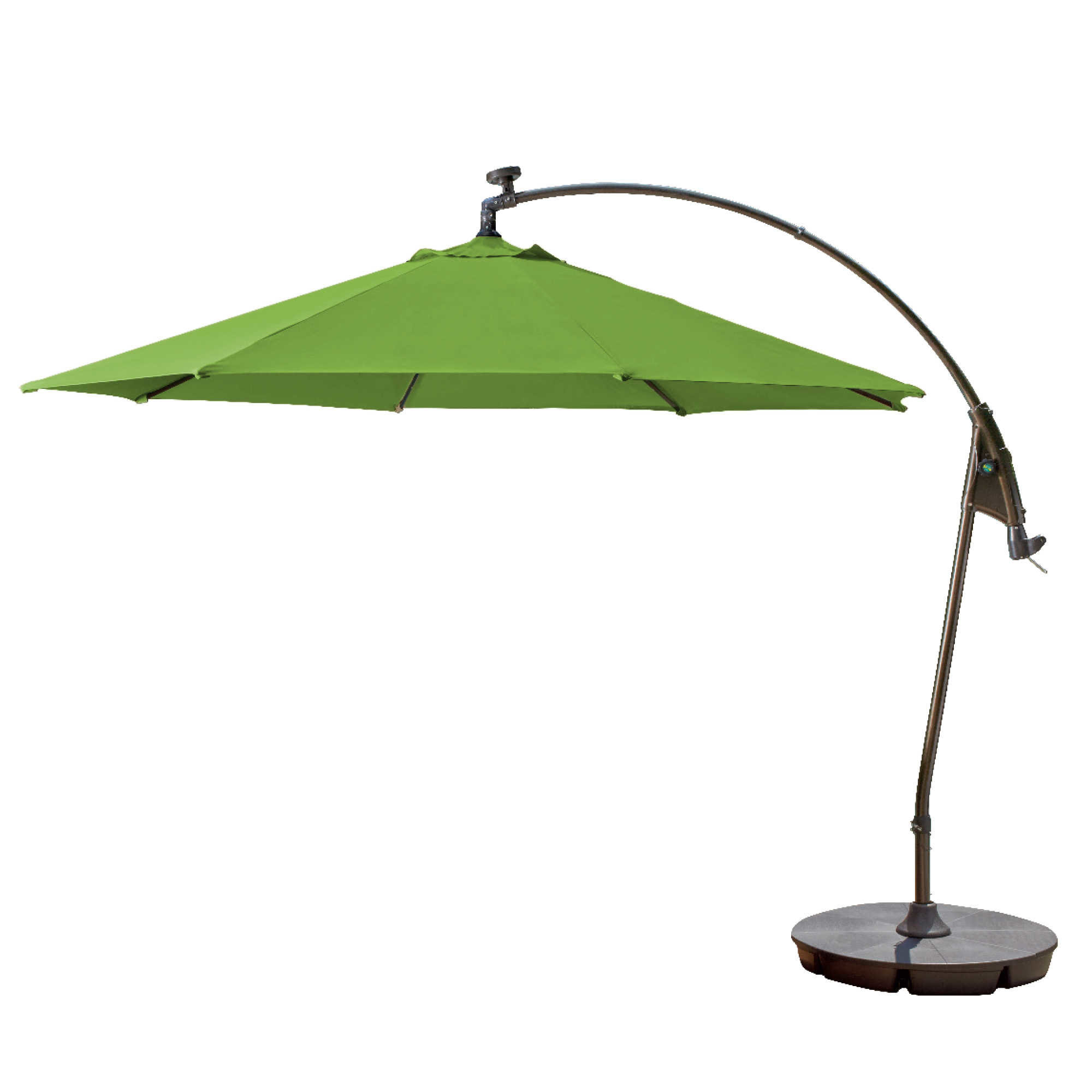 Most Current Yajaira Cantilever Umbrellas Throughout Pottsville Solar Cantilever Sunbrella Umbrella (View 11 of 20)