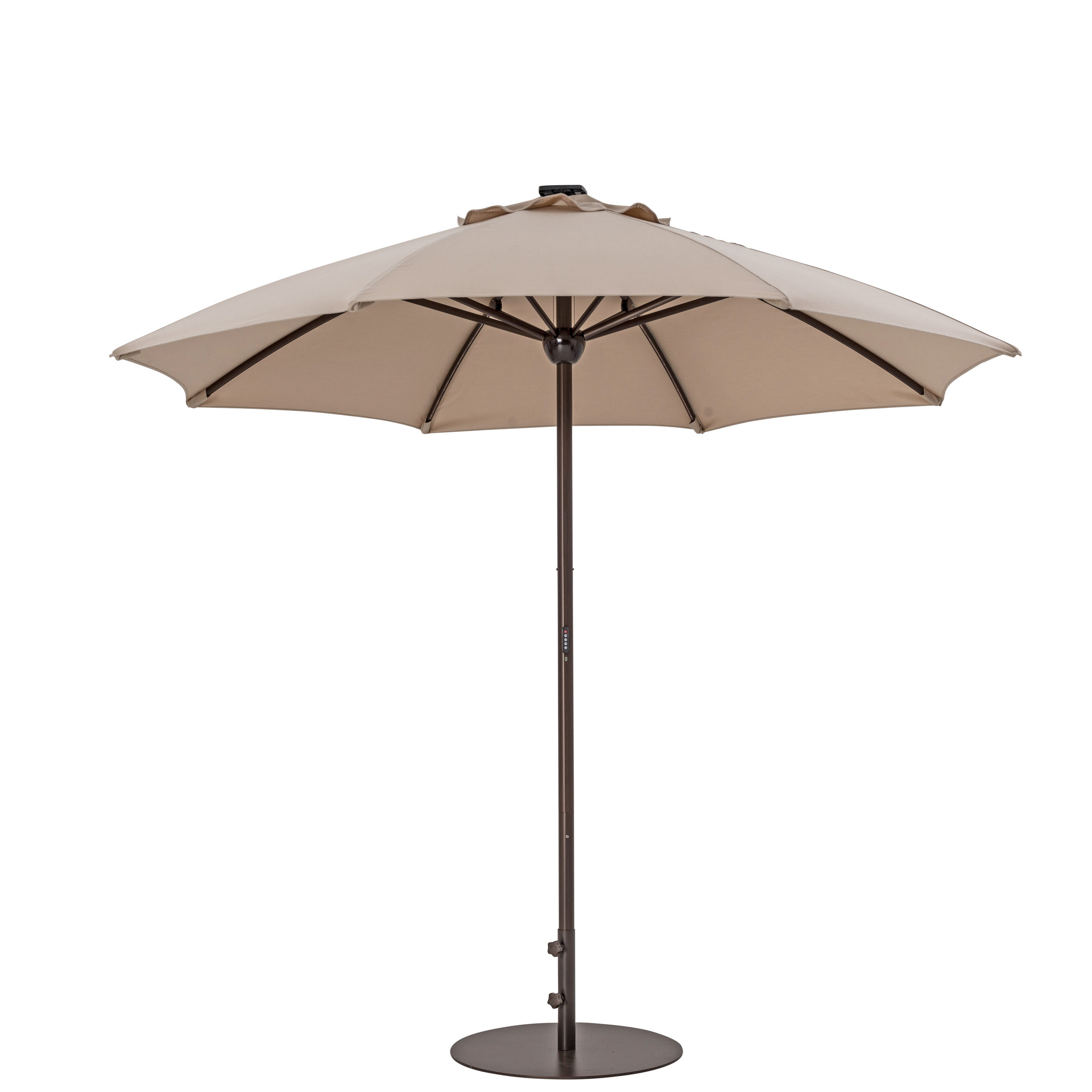 Most Popular 9' Market Umbrella In Hettie Solar Lighted Market Umbrellas (View 7 of 20)