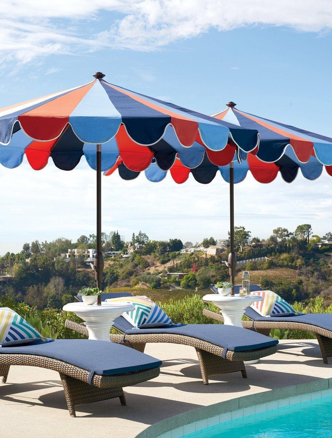 Most Popular Allport Market Umbrellas Regarding Gianna Designer Umbrella In Nautical (View 20 of 20)
