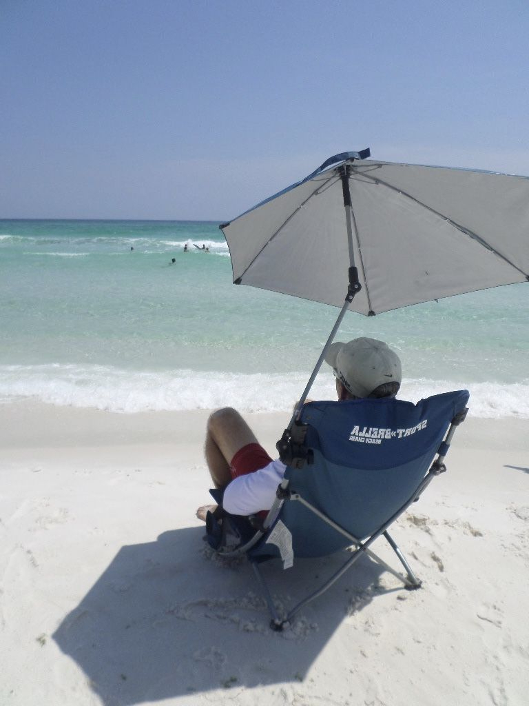 Most Popular Bella Beach Umbrellas With Beach Chair With A Canopy Or Umbrella Provides All Day Shade With (Gallery 7 of 20)