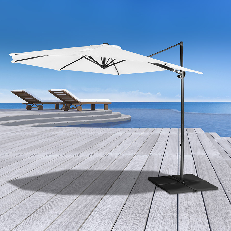 Most Popular Coolaroo Cantilever Umbrellas Pertaining To 3m Round Cantilever Umbrella (View 8 of 20)