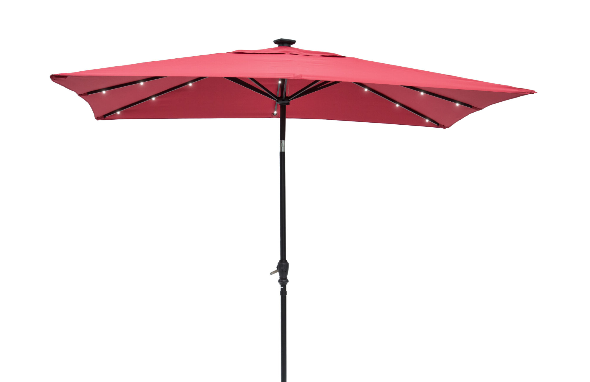 Featured Photo of Griselda Solar Lighted Rectangular Market Umbrellas