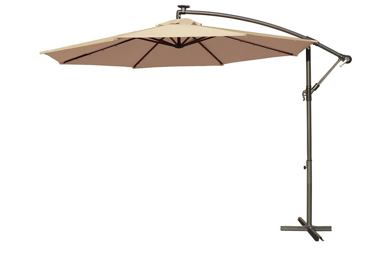 Most Popular Hilma Solar Cantilever Umbrellas Within Dunwich 10' Cantilever Umbrella (View 12 of 20)