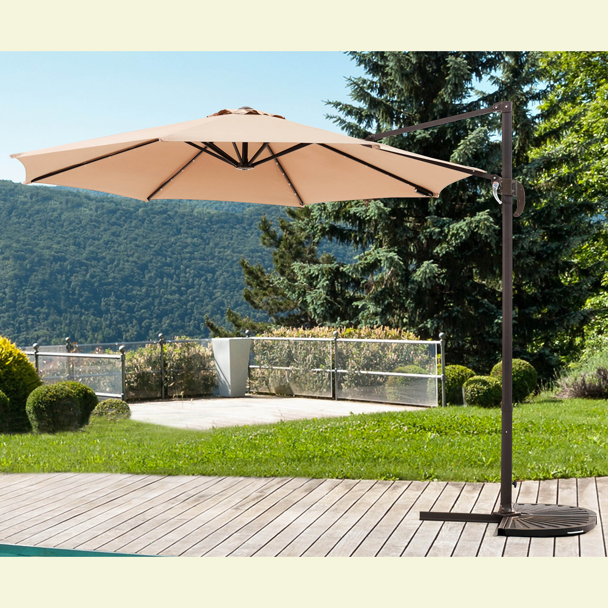 Most Popular Kulick 9.5' Cantilever Umbrella In Kizzie Market Cantilever Umbrellas (Gallery 6 of 20)