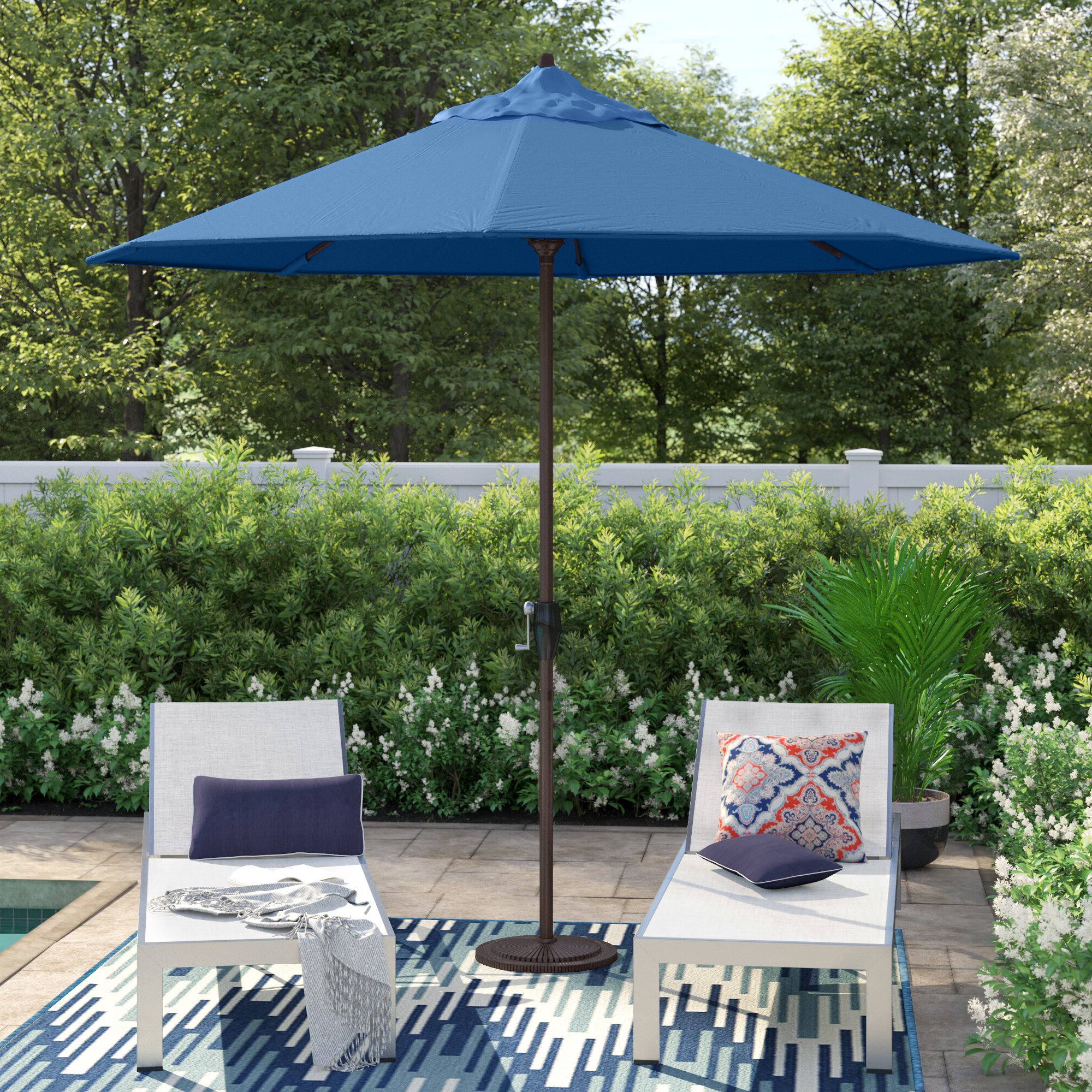 Most Popular Lorinda 9' Market Umbrella Regarding Artrip Market Umbrellas (View 13 of 20)