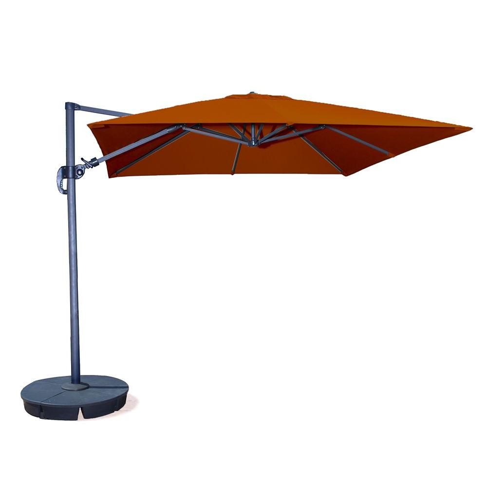Most Popular Olen Cantilever Umbrellas Regarding Santorini Ii 10 Ft. Square Cantilever Sunbrella Acrylic Patio (Gallery 7 of 20)
