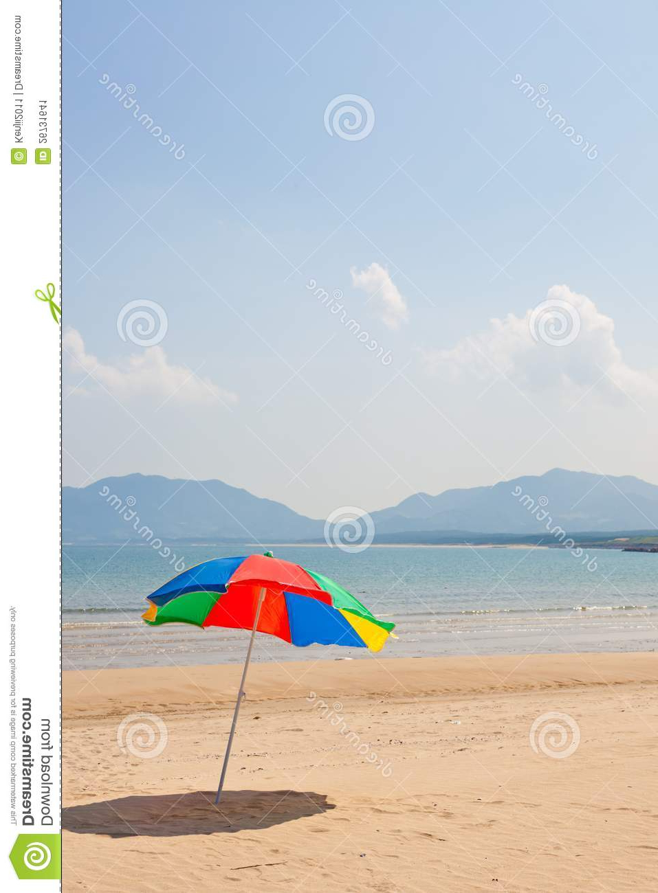 Most Popular Seaside Beach Umbrellas For Seaside Beach Umbrella Stock Image (View 5 of 20)