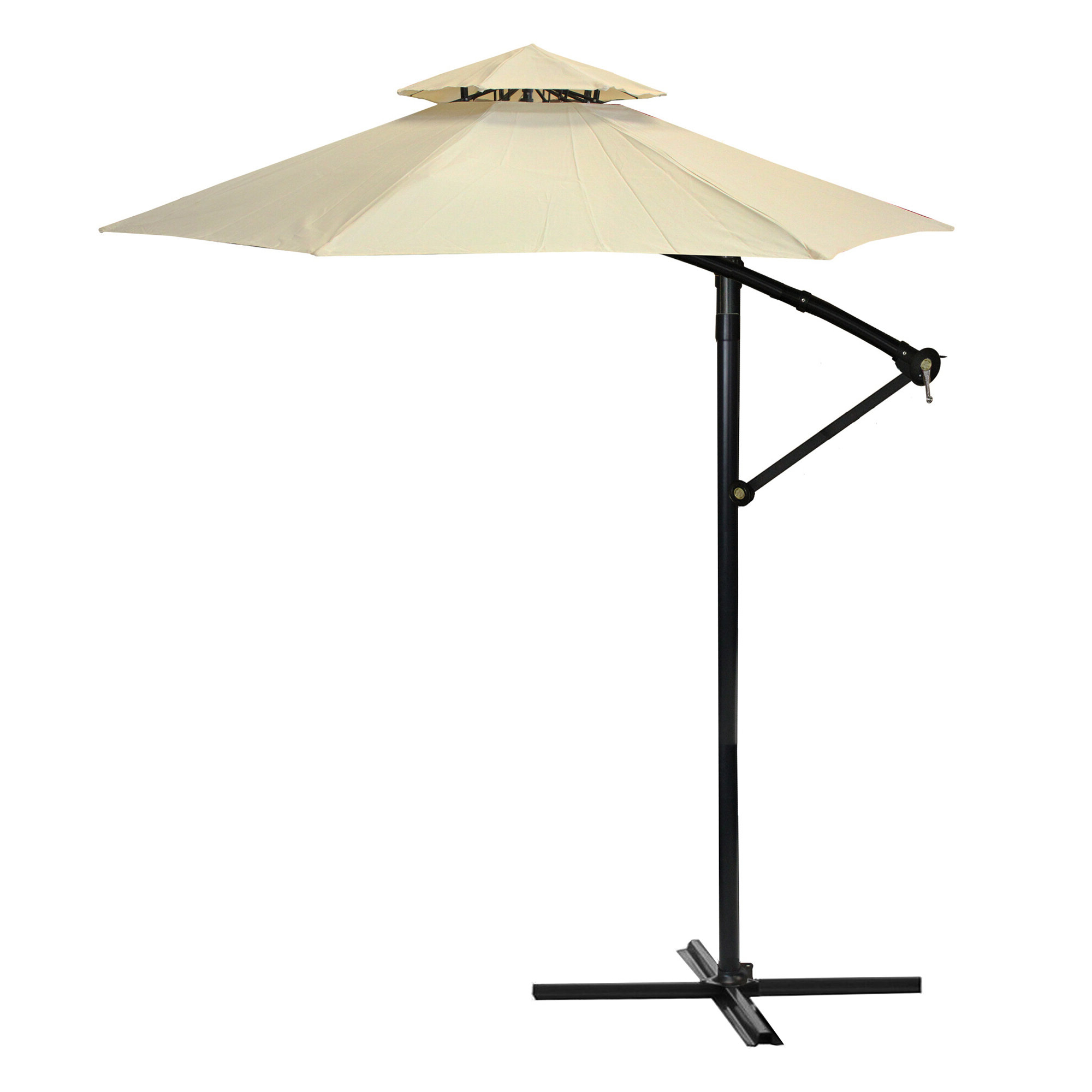 Most Recent 9.5' Cantilever Umbrella Intended For Justis Cantilever Umbrellas (Gallery 7 of 20)