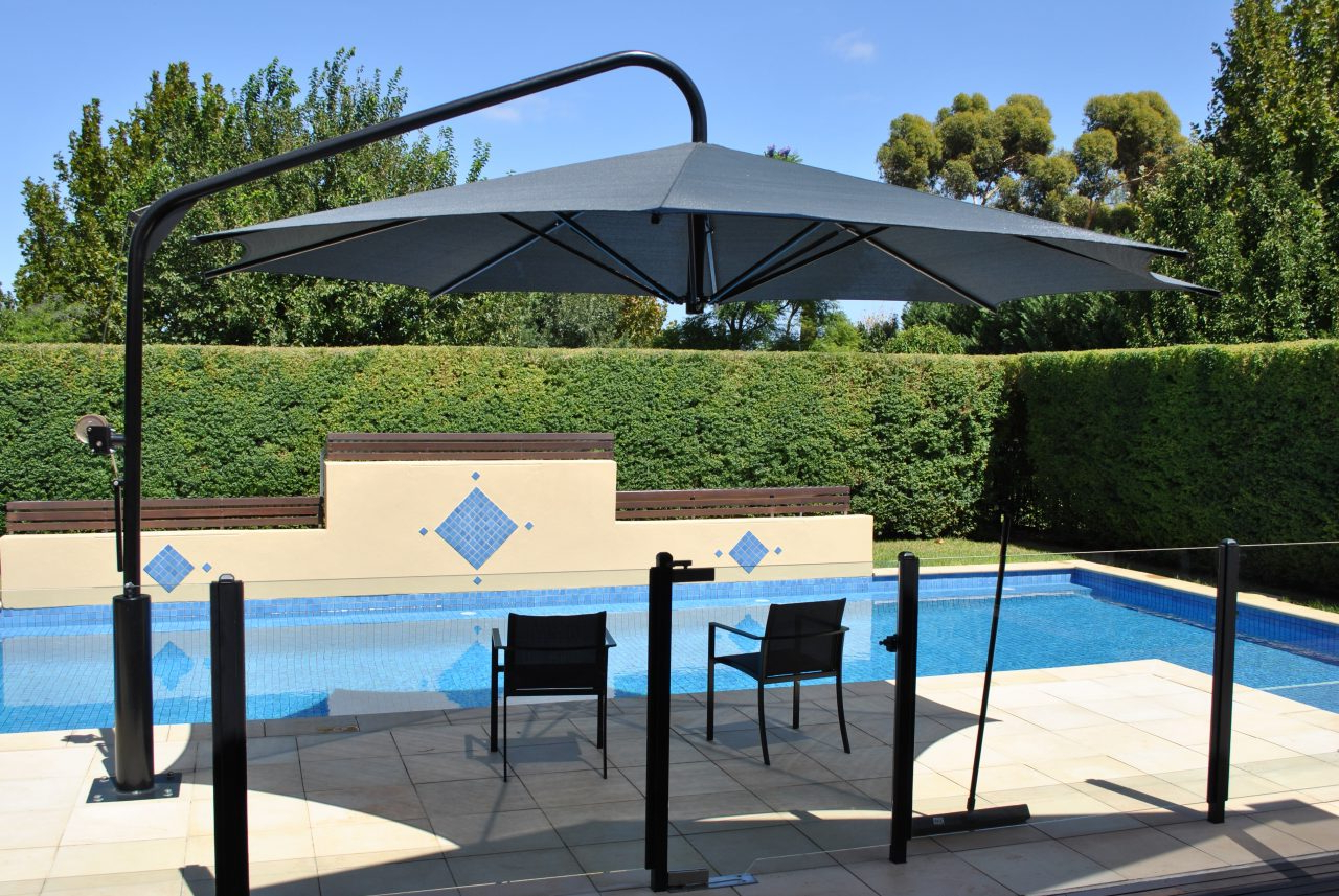 Most Recent Cantilever Umbrellas Pertaining To Swing & Fold Cantilever Umbrellas (Gallery 17 of 20)