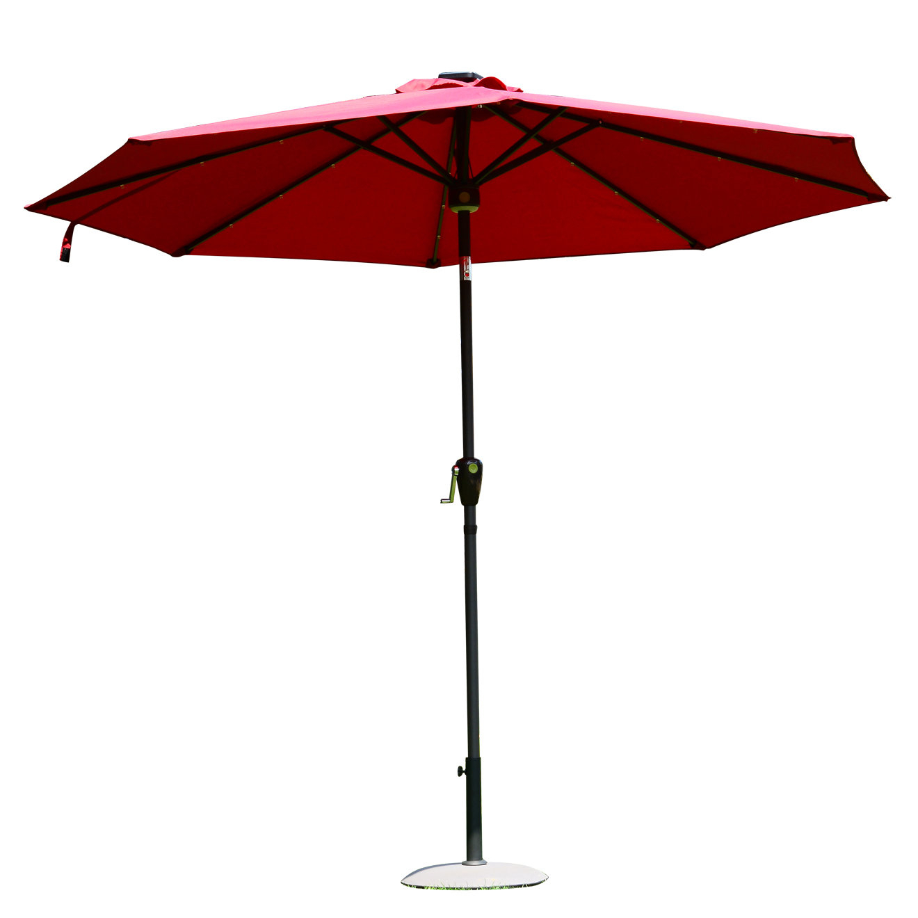 Most Recent Chalfant 9' Lighted Umbrella Inside Branam Lighted Umbrellas (View 13 of 20)