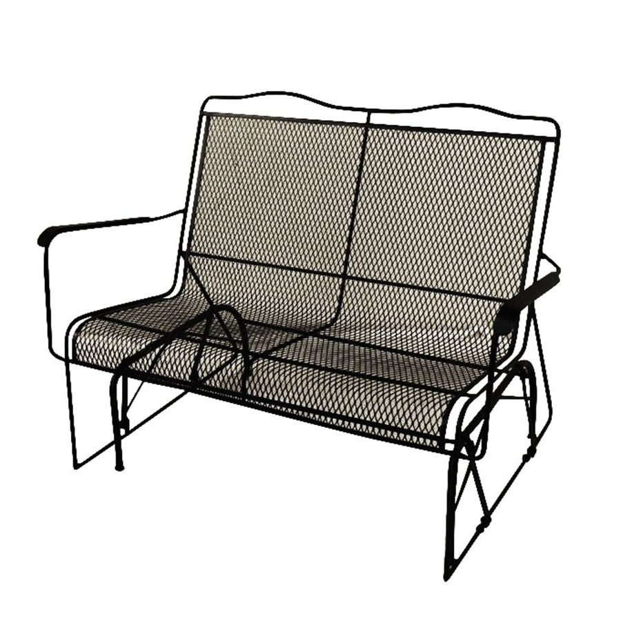Most Recent Gries Rectangular Market Umbrellas Within Arlington House Davenport Charcoal Wrought Iron Patio Rocking Chair (Gallery 16 of 20)