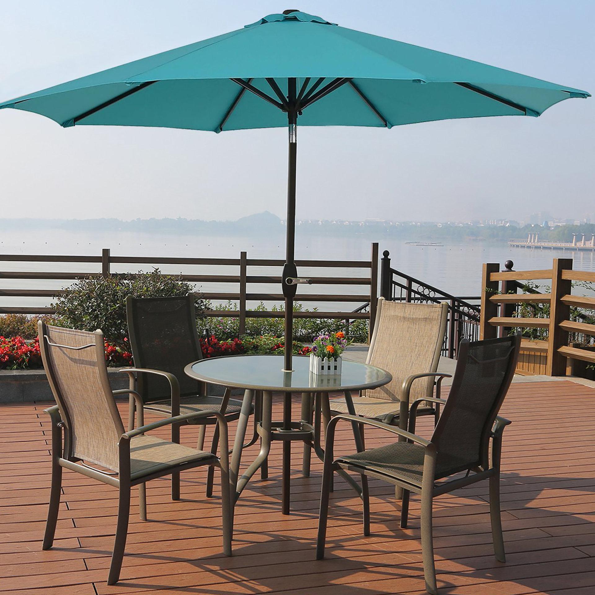 Most Recent Kenn 9' Market Umbrella Intended For Taube Market Umbrellas (View 9 of 20)