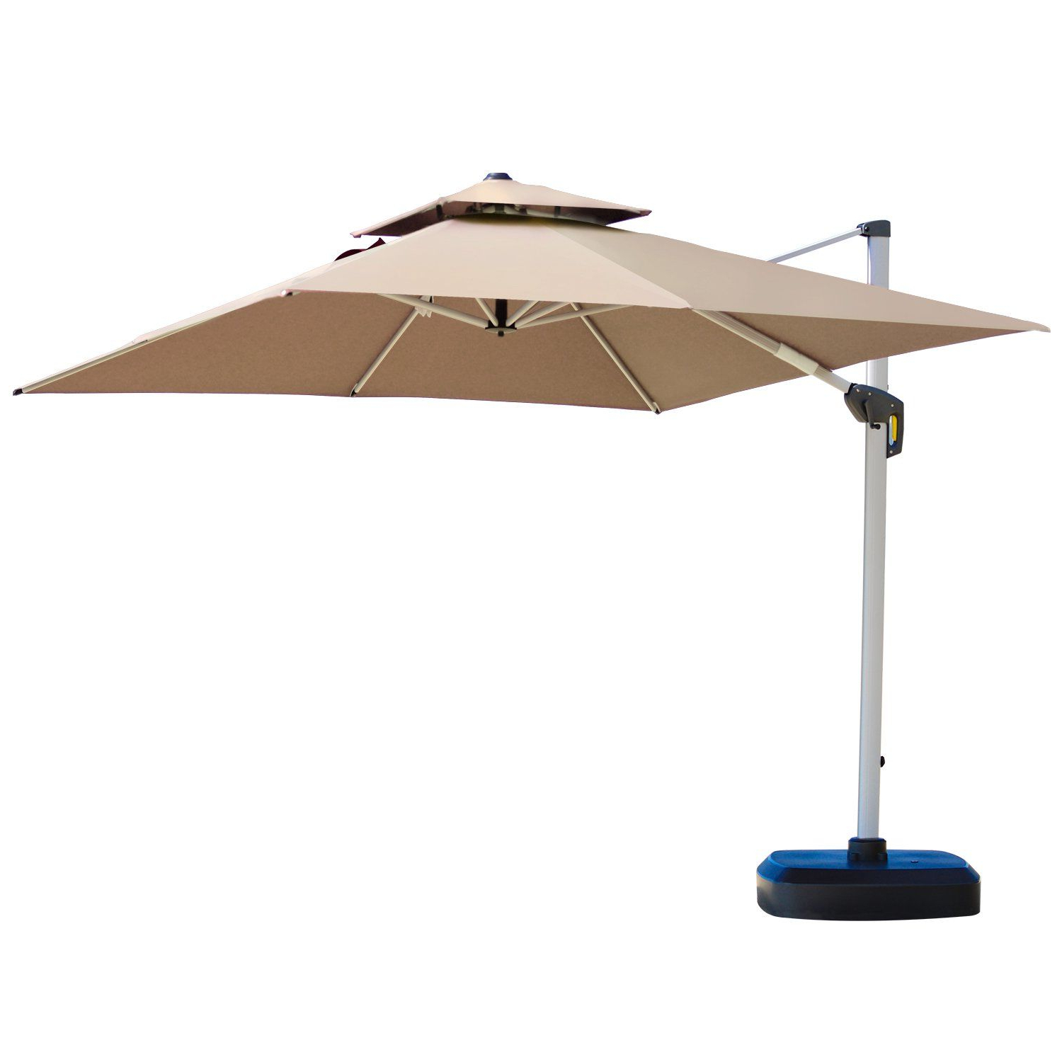 Most Recent Lytham Cantilever Umbrellas For Purple Leaf 10 Feet Double Top Deluxe Square Patio Umbrella Offset (View 5 of 20)