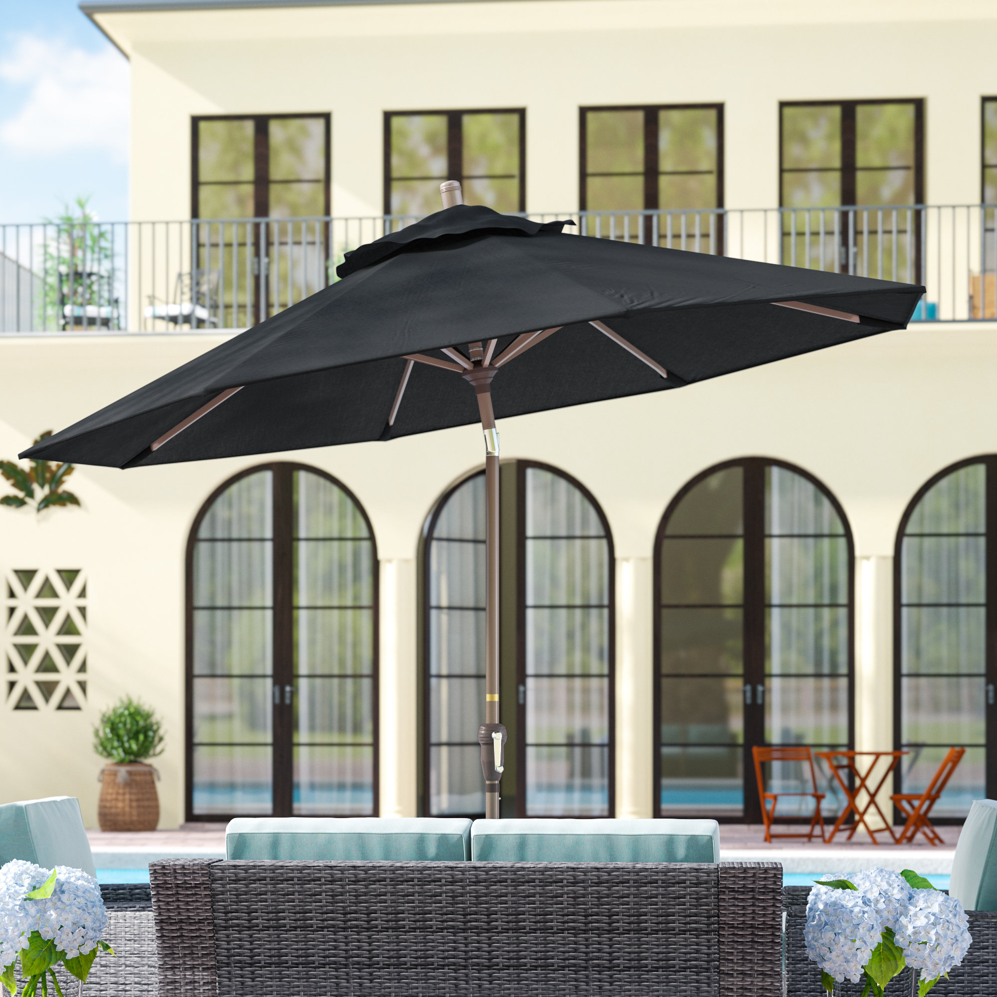 Most Recent Mullaney Beachcrest Home Market Umbrellas Pertaining To Mullaney 9' Market Umbrella (View 4 of 20)