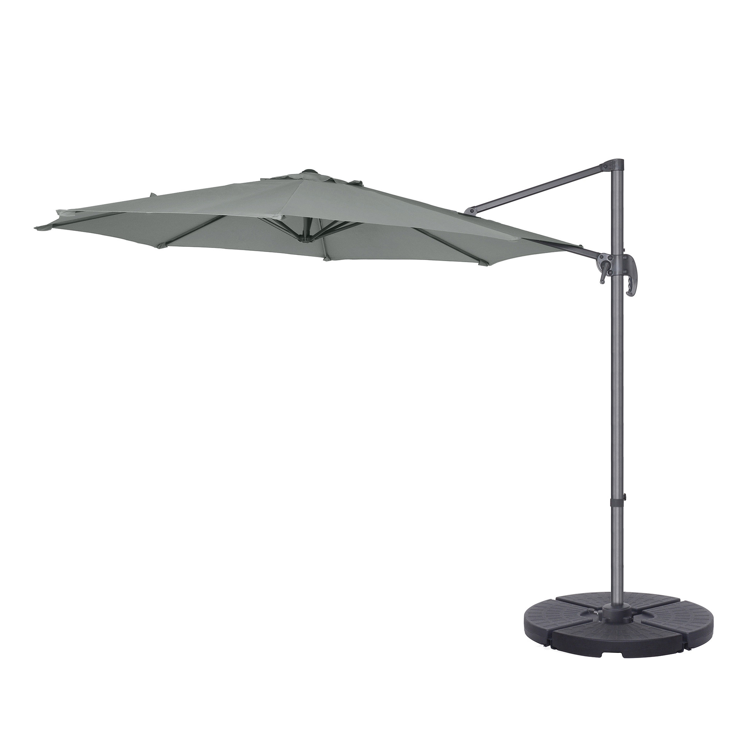Most Recent Ryant Cantilever Umbrellas Regarding Cockermouth Rotating 10' Cantilever Umbrella (View 6 of 20)
