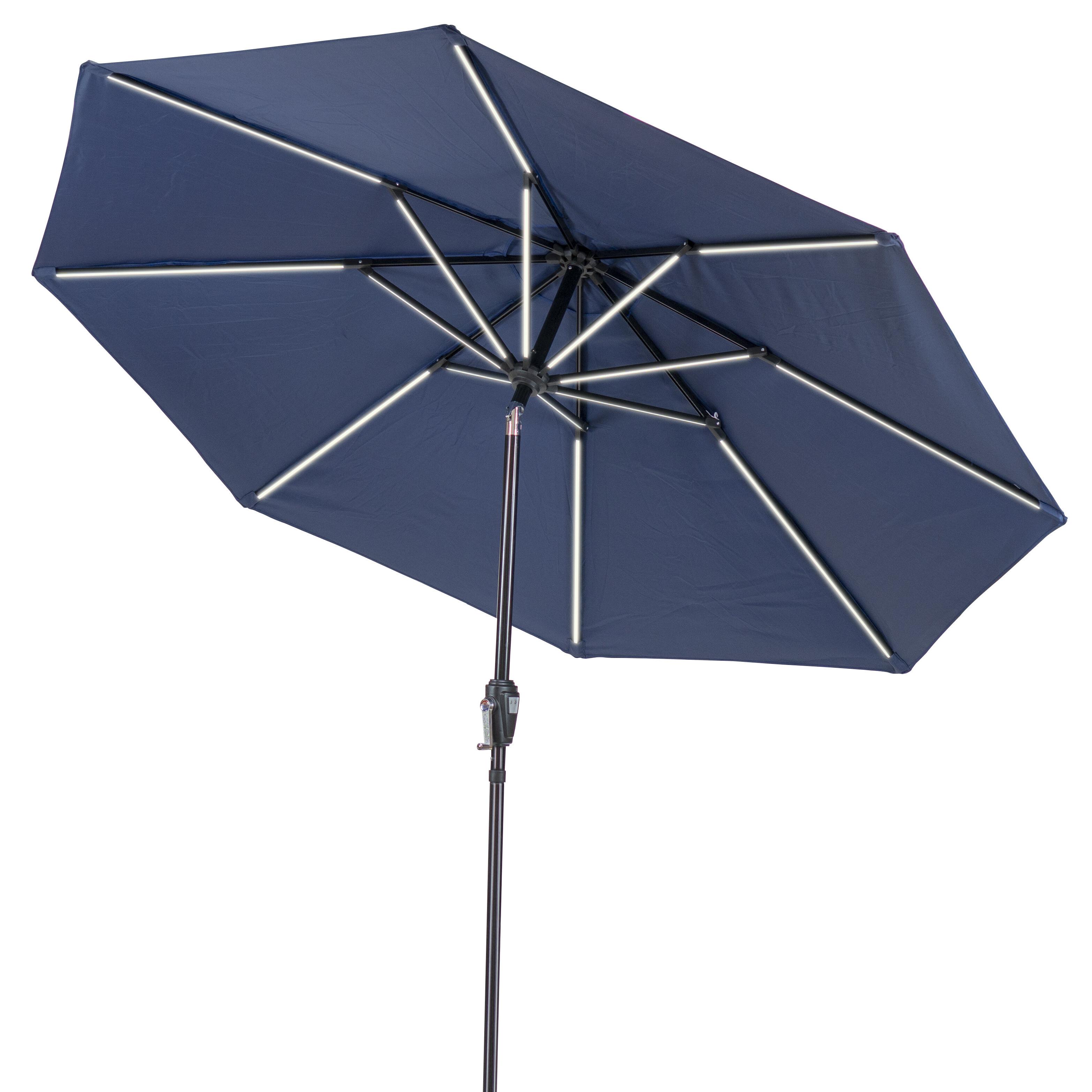 Most Recent Sun Ray Solar Cantilever Umbrellas In Sun Ray Next Gen Solar Round 9' Market Umbrella (View 10 of 20)