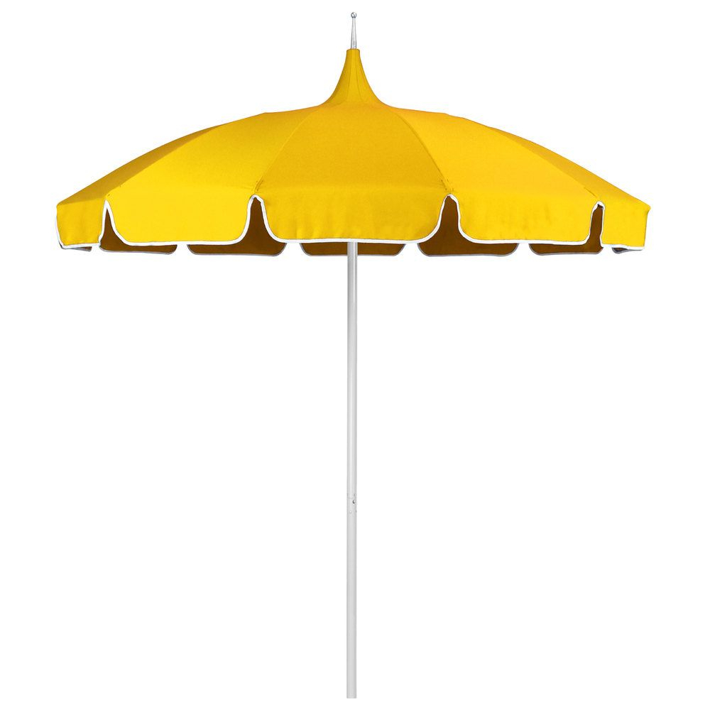 Most Recent Wallach Market Sunbrella Umbrellas With Regard To Natural And Sunflower Yellow Fabric California Umbrella Smpt 852 (Gallery 14 of 20)