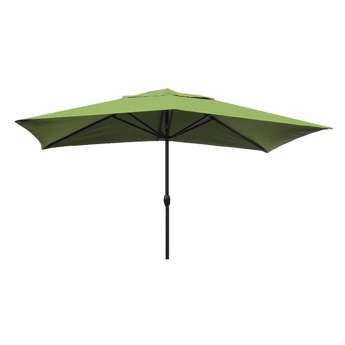 Most Recent Wieczorek Auto Tilt Rectangular Market Sunbrella Umbrellas For Gries 10' X 6' Rectangular Market Umbrella (View 13 of 20)