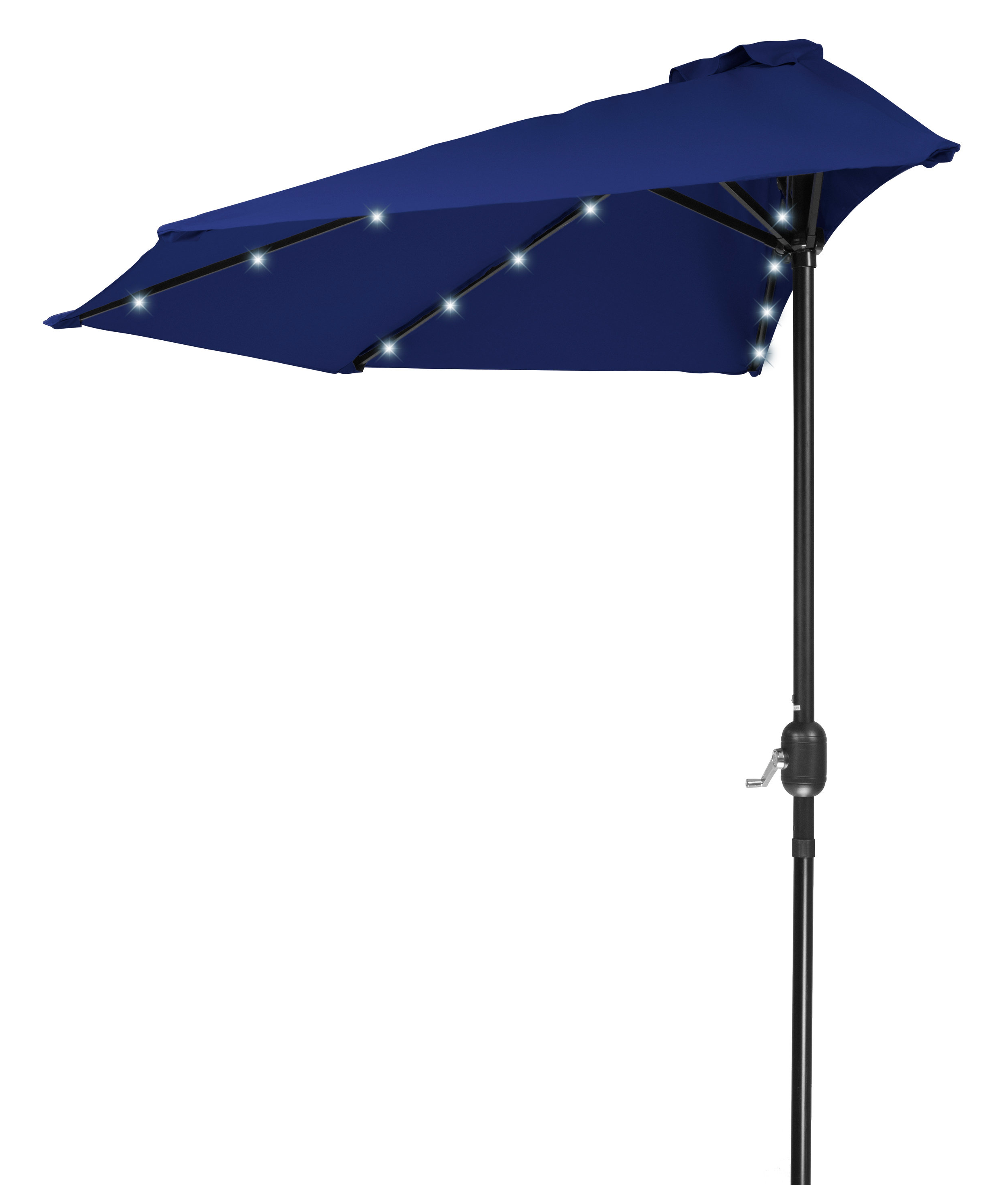 Most Recently Released Alyson Joeshade Beach Umbrellas Inside Phipps Patio Half Led Solar Powered 9' Lighted Umbrella (Gallery 20 of 20)