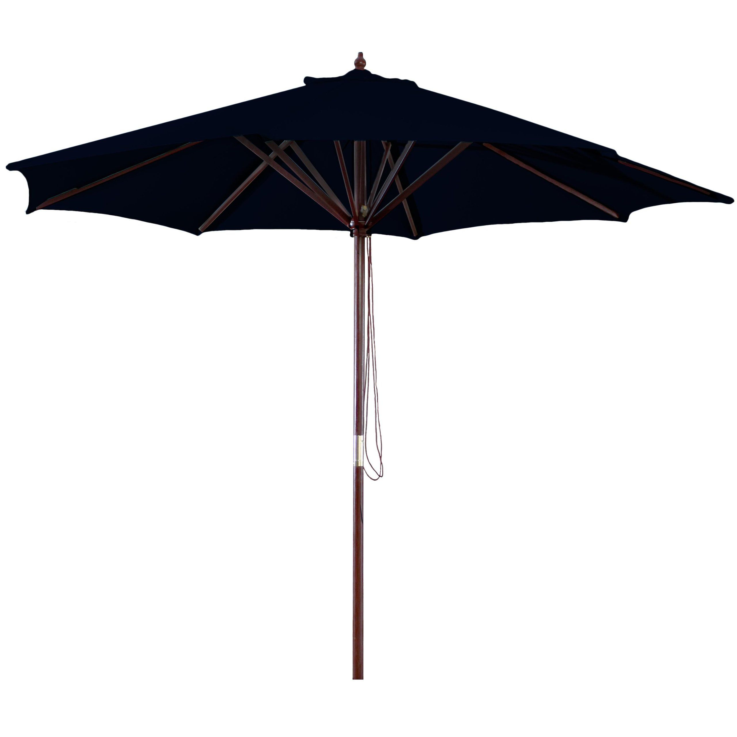 Most Recently Released Amazon: Jordan Manufacturing Wood Market Umbrella Black: Patio For Bricker Market Umbrellas (View 7 of 20)