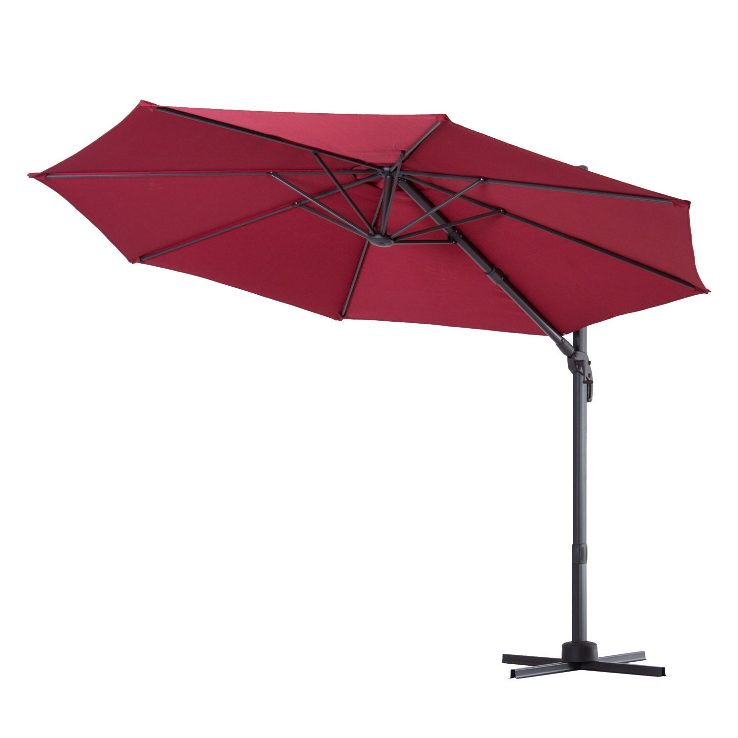 Most Recently Released Caire 10' Cantilever Umbrella Inside Fazeley  Rectangular Cantilever Umbrellas (Gallery 11 of 20)
