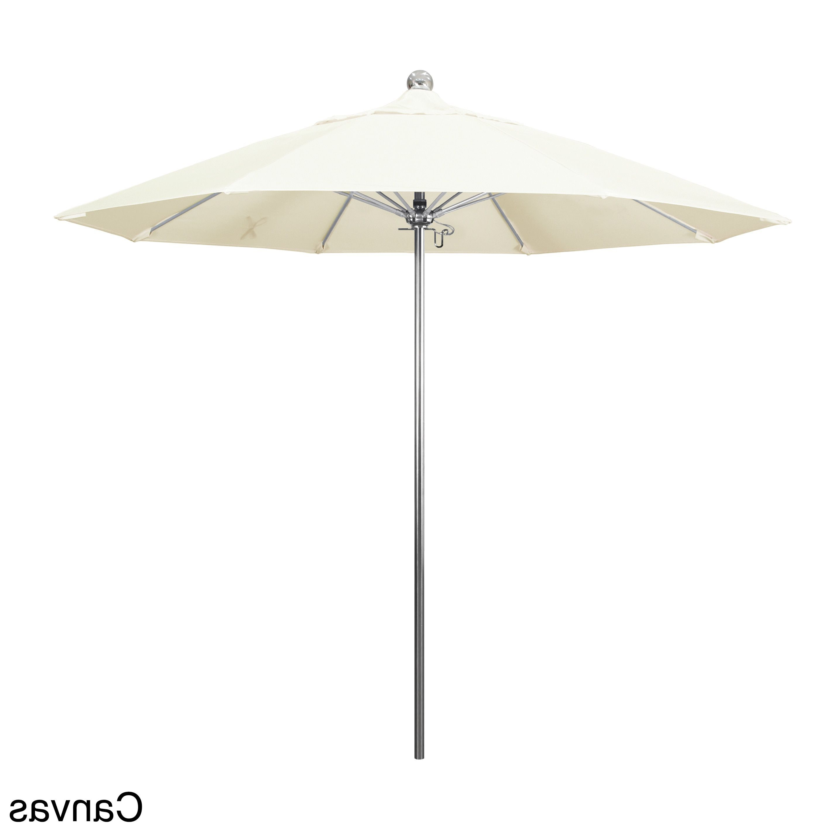 Most Recently Released California Umbrella 9 Foot Stainless Steel Market Umbrella With In Mablethorpe Cantilever Umbrellas (Gallery 15 of 20)