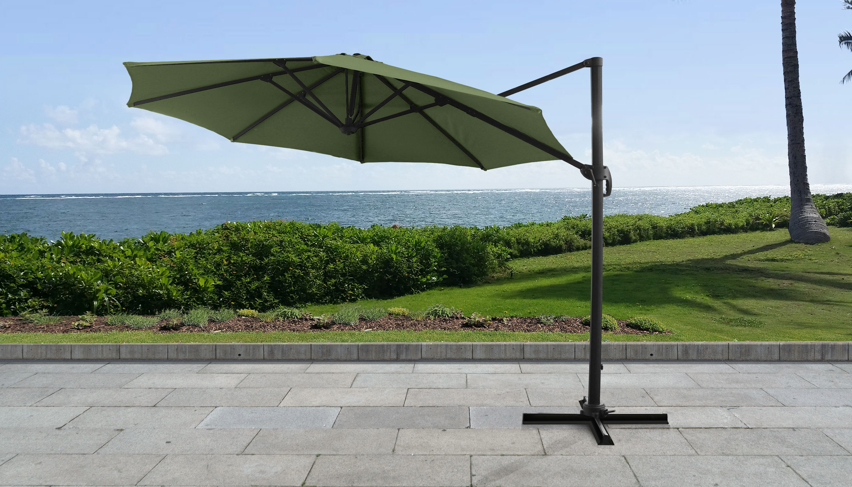 Most Recently Released Cantilever Umbrellas Intended For 11' Octagonal Cantilever Umbrella (View 15 of 20)