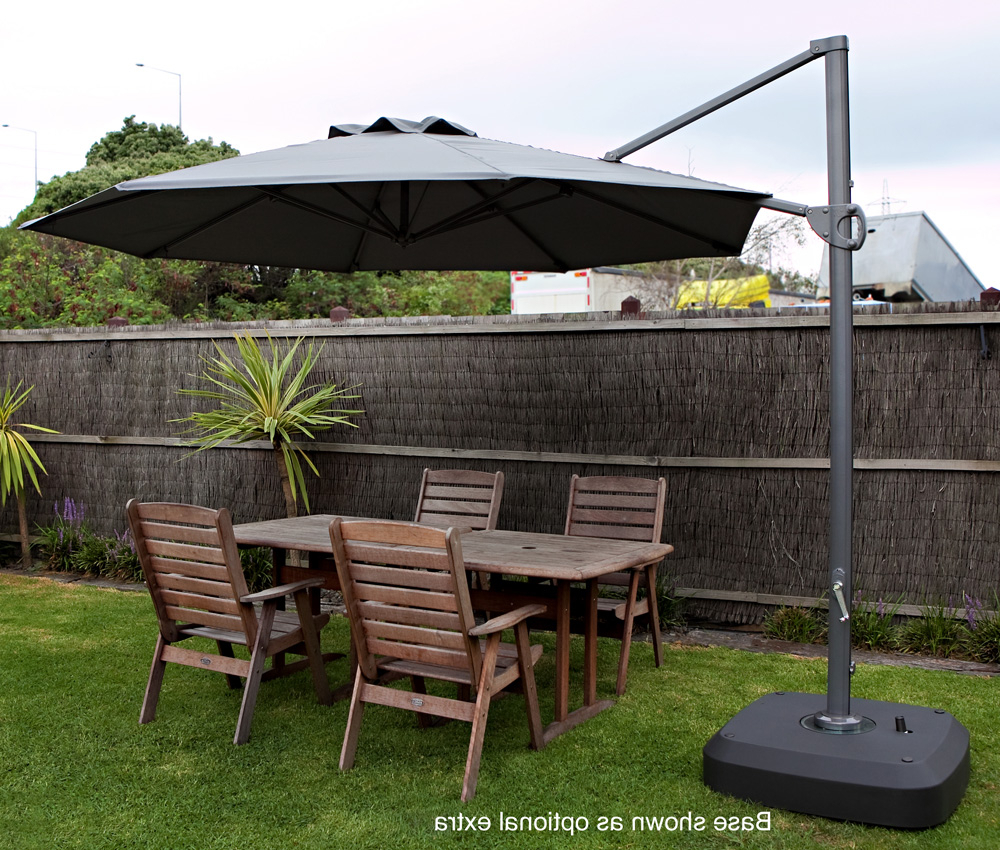 Most Recently Released Cantilever Umbrellas Throughout Cantilever Market Umbrellas 3.3M – Rainbrella (Gallery 7 of 20)