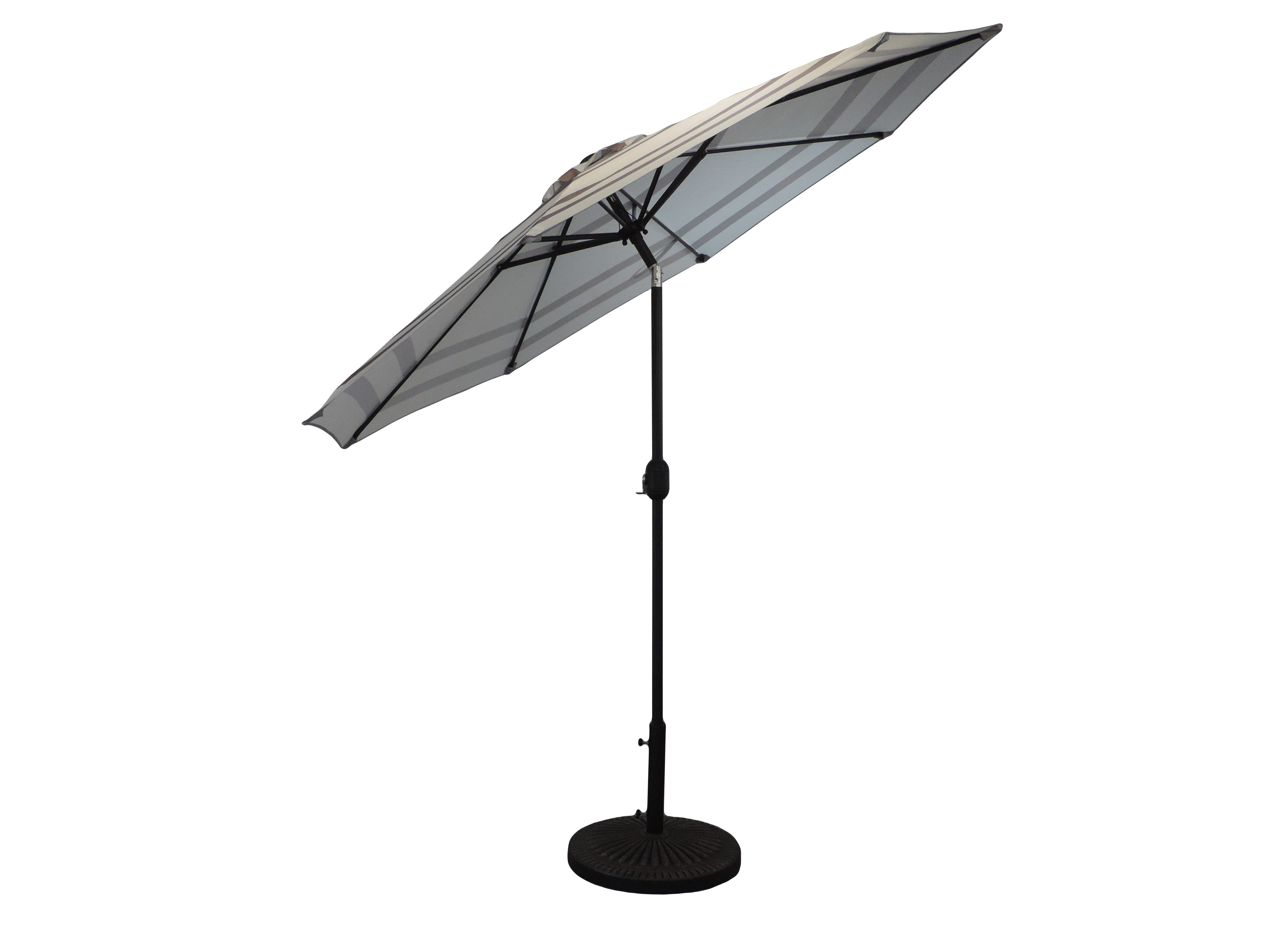 Most Recently Released Manila Striped Patio 9' Market Umbrella Intended For Gainsborough Market Umbrellas (View 13 of 20)