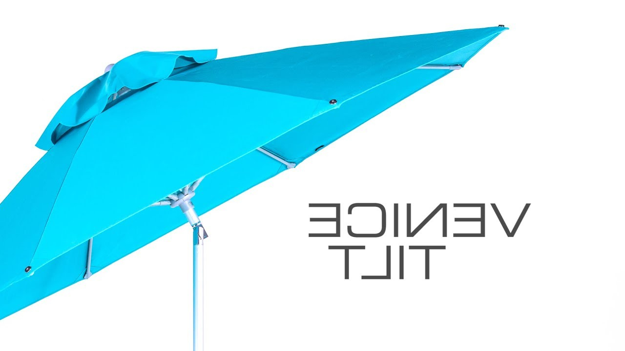 Most Recently Released Venice Lighted Umbrellas Inside Venice Tilt Umbrellashade (View 5 of 20)