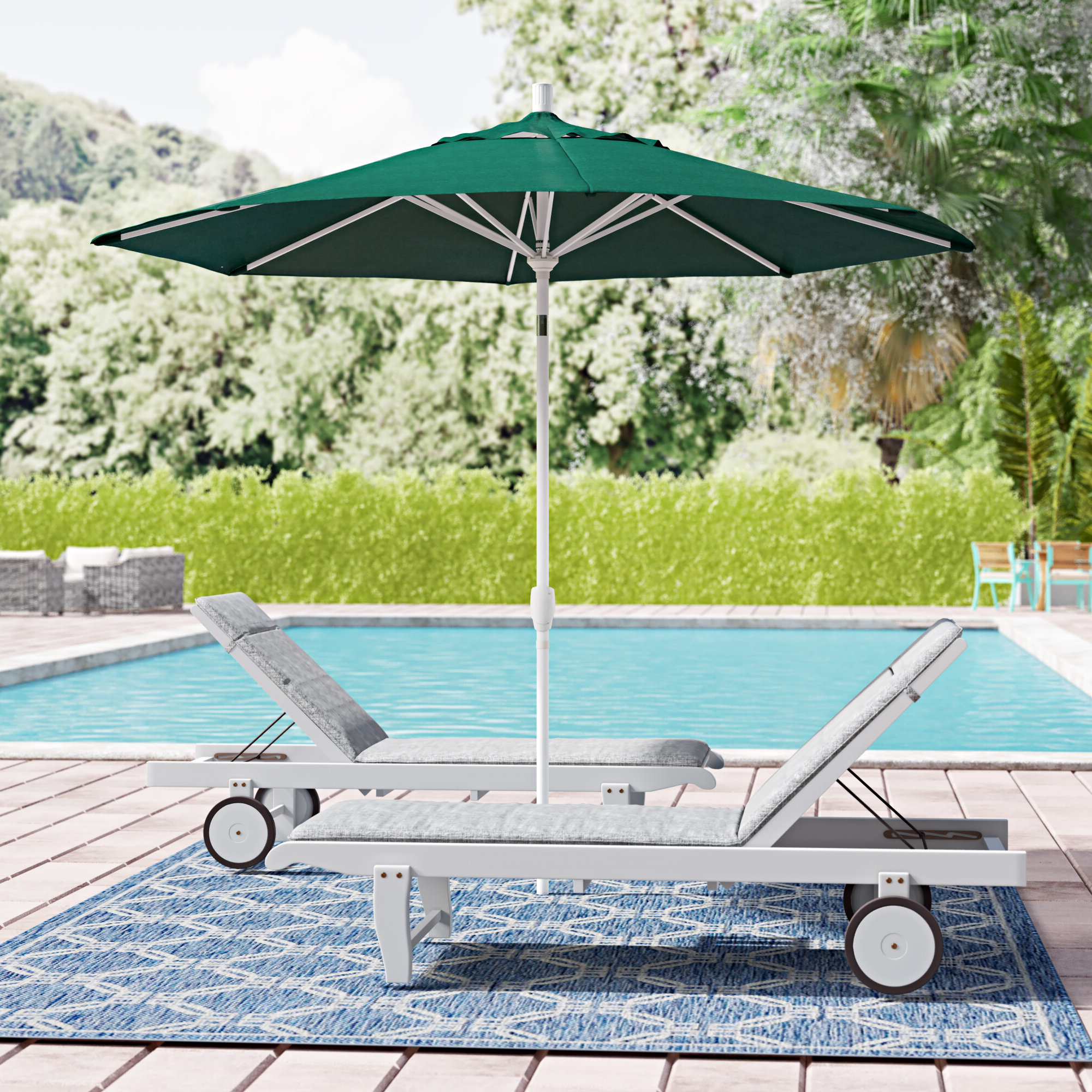Most Recently Released Wallach 9' Market Umbrella Regarding Wallach Market Sunbrella Umbrellas (View 4 of 20)