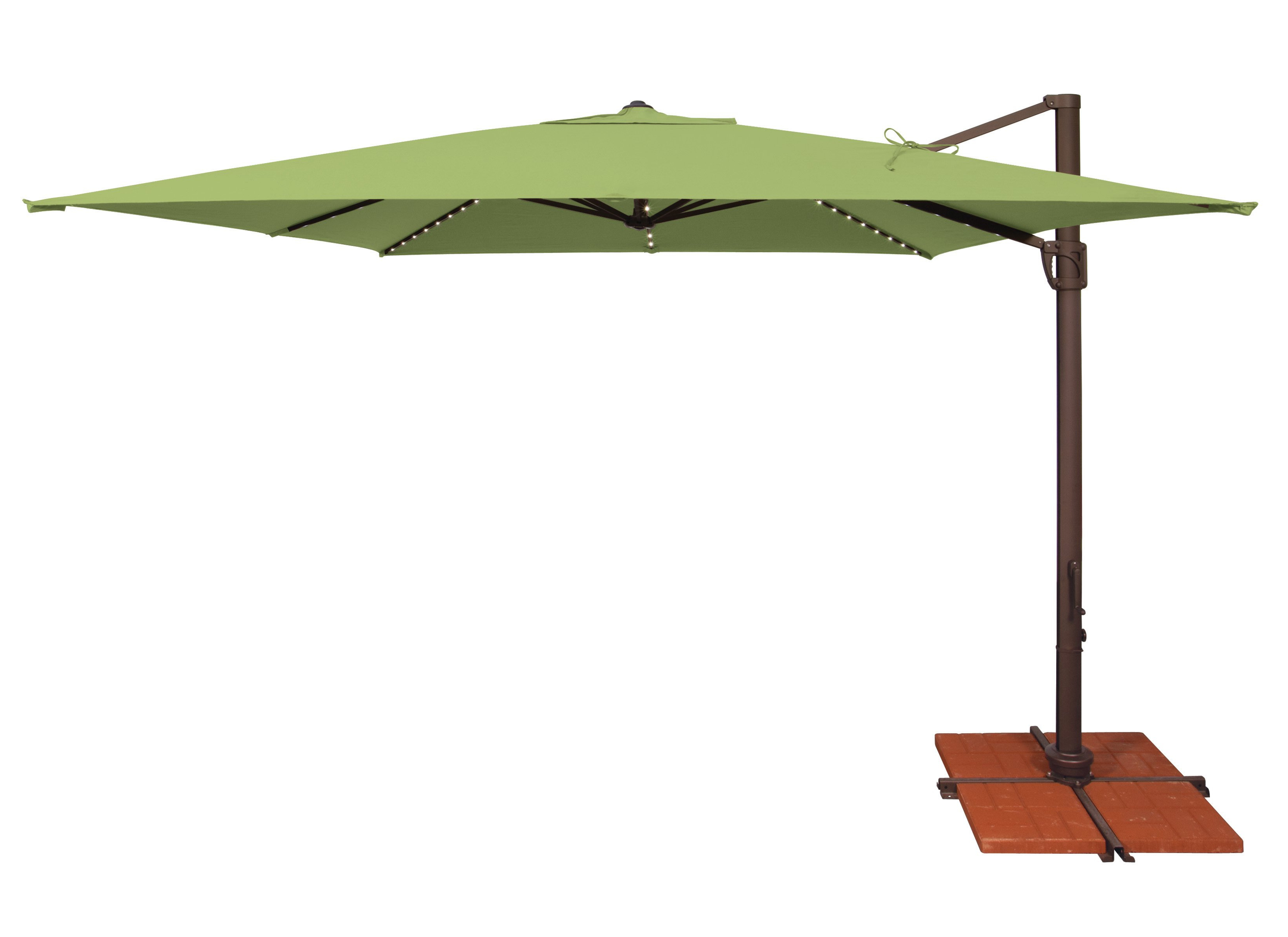 Most Up To Date Darby Home Co Windell 10' Square Cantilever Umbrella With Regard To Nasiba Square Cantilever Sunbrella Umbrellas (View 11 of 20)