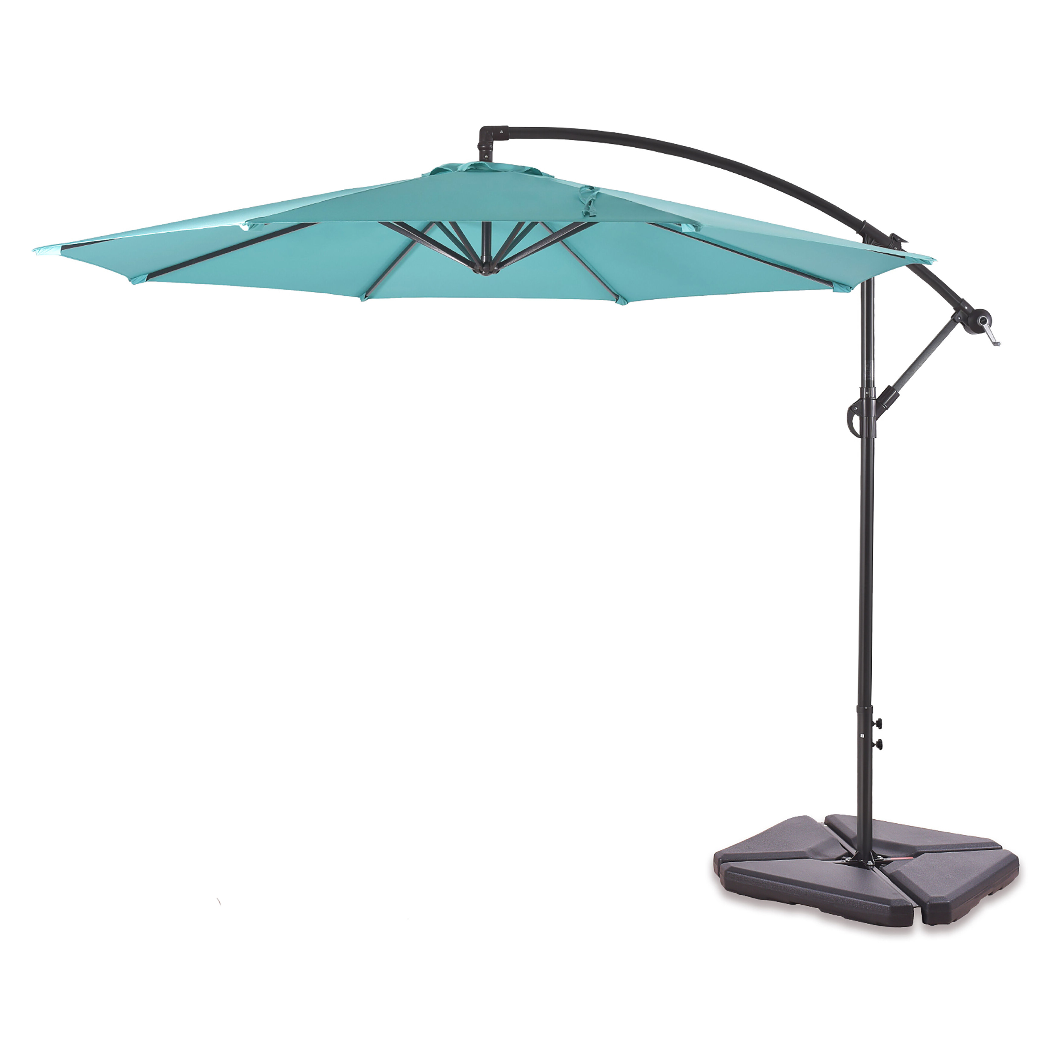 Most Up To Date Muhammad Fullerton Cantilever Umbrellas Pertaining To Karr 10' Cantilever Umbrella (Gallery 8 of 20)