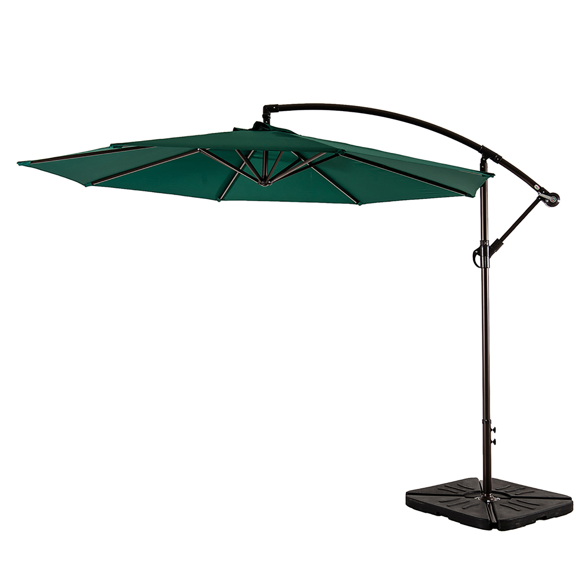 Most Up To Date Sheehan Half Market Umbrellas With Regard To Alcott Hill Karr 10' Cantilever Umbrella (View 8 of 20)