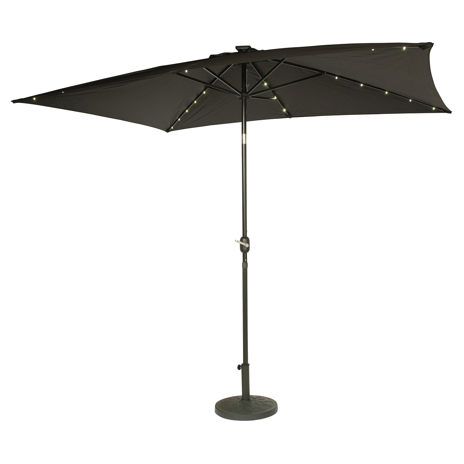 Most Up To Date Solar Powered Led Patio Umbrellas For Rectangular Solar Powered Led Lighted Patio Umbrella, 10' X (View 8 of 20)